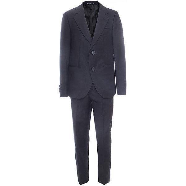 Комплект: пиджак и брюки для мальчика OrbyПиджаки и костюмы<br>Характеристики товара:<br><br>• цвет: черный<br>• состав ткани: 70 % ПЭ, 30% вискоза<br>• комплектация: пиджак, брюки<br>• особенности: школьная, праздничная<br>• застежка пиджака: пуговицы<br>• застежка брюк: молния<br>• регулируемая талия брюк<br>• шлевки для ремня<br>• сезон: круглый год<br>• страна бренда: Россия<br>• страна изготовитель: Россия<br><br>Черный костюм Orby классического кроя для мальчика - отличный вариант практичной и стильной школьной одежды. <br><br>Такой детский костюм-двойка обеспечивает красивый внешний вид и комфорт одновременно.<br><br>Комплект: пиджак и брюки для мальчика Orby (Орби) можно купить в нашем интернет-магазине.<br><br>Ширина мм: 215<br>Глубина мм: 88<br>Высота мм: 191<br>Вес г: 336<br>Цвет: черный<br>Возраст от месяцев: 96<br>Возраст до месяцев: 108<br>Пол: Мужской<br>Возраст: Детский<br>Размер: 134,140,146,152,158,164,122,128<br>SKU: 6960957