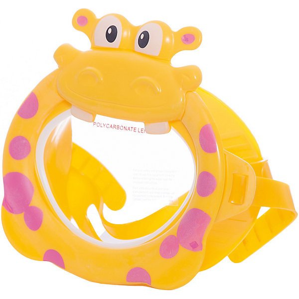 Маска для плавания Бегемот, IntexОчки, маски, ласты, шапочки<br>Характеристики:<br><br>• возраст: от 3 лет<br>• материал: латекс, поликарбонат<br>• упаковка: блистер на картоне<br>• размер упаковки: 22x20х2 см.<br>• вес: 133 гр.<br><br>Детская маска, выполненная в виде очаровательного бегемота - незаменимый аксессуар для юных пловцов.<br><br>Эргономичная форма и специальный ремешок позволяют изделию плотно прилегать к лицу ребёнка, избегая протекания и не сдавливая кожу и волосы. Эластичный ремешок можно легко регулировать по длине, поэтому маска подойдет для детей разных возрастов и прослужит достаточно долго.<br><br>Изделие изготовлено из качественных и гипоаллергенных материалов безопасных для здоровья ребёнка.<br><br>Маску для плавания Бегемот, Intex (Интекс) можно купить в нашем интернет-магазине.<br><br>Ширина мм: 73<br>Глубина мм: 228<br>Высота мм: 203<br>Вес г: 133<br>Возраст от месяцев: 36<br>Возраст до месяцев: 96<br>Пол: Унисекс<br>Возраст: Детский<br>SKU: 6963515