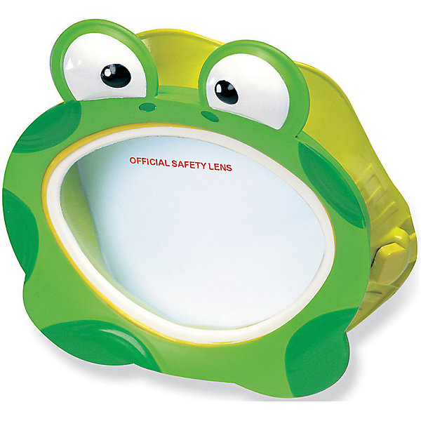 Маска для плавания Лягушка, IntexОчки, маски, ласты, шапочки<br>Характеристики:<br><br>• возраст: от 3 лет<br>• материал: латекс, поликарбонат<br>• упаковка: блистер на картоне<br>• размер упаковки: 22x20х2 см.<br>• вес: 133 гр.<br><br>Детская маска, выполненная в виде очаровательной лягушки - незаменимый аксессуар для юных пловцов.<br><br>Эргономичная форма и специальный ремешок позволяют изделию плотно прилегать к лицу ребёнка, избегая протекания и не сдавливая кожу и волосы. Эластичный ремешок можно легко регулировать по длине, поэтому маска подойдет для детей разных возрастов и прослужит достаточно долго.<br><br>Изделие изготовлено из качественных и гипоаллергенных материалов безопасных для здоровья ребёнка.<br><br>Маску для плавания Лягушка, Intex (Интекс) можно купить в нашем интернет-магазине.<br><br>Ширина мм: 73<br>Глубина мм: 228<br>Высота мм: 203<br>Вес г: 133<br>Возраст от месяцев: 36<br>Возраст до месяцев: 96<br>Пол: Унисекс<br>Возраст: Детский<br>SKU: 6963516