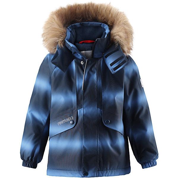 Куртка Reimatec® Reima Furu для мальчикаОдежда<br>Характеристики товара:<br><br>• цвет: синий;<br>• состав: 100% полиэстер;<br>• подкладка: 100% полиэстер;<br>• утеплитель: 160 г/м2<br>• температурный режим: от 0 до -20С;<br>• сезон: зима; <br>• водонепроницаемость: 15000 мм;<br>• воздухопроницаемость: 7000 мм;<br>• износостойкость: 40000 циклов (тест Мартиндейла);<br>• водо- и ветронепроницаемый, дышащий и грязеотталкивающий материал;<br>• все швы проклеены и водонепроницаемы;<br>• гладкая подкладка из полиэстера;<br>• эластичные манжеты;<br>• застежка: молния с защитой подбородка;<br>• безопасный съемный и регулируемый капюшон на кнопках;<br>• съемный искусственный мех на капюшоне;<br>• регулируемый подол;<br>• два кармана на кнопках;<br>• внутренний нагрудный карман;<br>• карман с креплением для сенсора ReimaGO®;<br>• светоотражающие детали;<br>• страна бренда: Финляндия;<br>• страна изготовитель: Китай.<br><br>Детская непромокаемая зимняя куртка Reimatec® изготовлена из водо и ветронепроницаемого, дышащего и прочного материала с высокими грязеотталкивающими свойствами. Все швы проклеены, водонепроницаемы. В этой модели прямого покроя подол при необходимости легко регулируется, что позволяет подогнать куртку точно по фигуре. Она снабжена съемным и регулируемым капюшоном со съемной отделкой из искусственного меха.<br><br>С помощью удобной системы кнопок Play Layers® к этой куртке можно присоединять одежду промежуточного слоя Reima®, которая подарит вашему ребенку дополнительное тепло и комфорт. В куртке предусмотрены два кармана на молнии, внутренний нагрудный карман, карман для сенсора ReimaGO® и множество светоотражающих деталей. Эта куртка очень проста в уходе, кроме того, ее можно сушить в стиральной машине.<br><br>Куртку Furu Reimatec® Reima от финского бренда Reima (Рейма) можно купить в нашем интернет-магазине<br>Ширина мм: 356; Глубина мм: 10; Высота мм: 245; Вес г: 519; Цвет: синий; Возраст от месяцев: 48; Возраст до месяцев: 60; Пол: Мужской; Возраст: Де