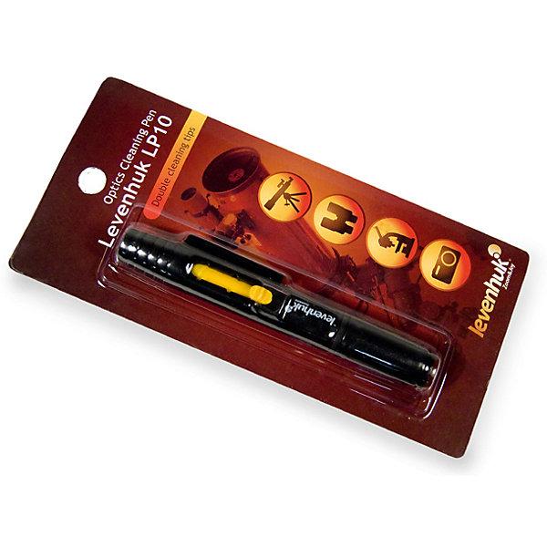Карандаш чистящий Levenhuk Cleaning Pen LP10Телескопы<br>Характеристики товара:<br><br>• возраст: от 6 лет;<br>• гарантия: 6 мес.;<br>• размер упаковки: 19,5х9,0х2,0 см.;<br>• вес в упаковке: 40 гр.;<br>• производитель: Levenhuk (Левенгук);<br>• страна: США.<br> <br>Чистящий карандаш Levenhuk Cleaning Pen LP10, поможет без труда очистить различные виды оптики, имеющие особое покрытие, толщина которого обычно не превышает 250-300 нм. <br><br>Конструкторские ососбенности карандаша позволяют справиться с различными типами загрязнения оптики. Специальная выдвигающаяся кисточка очистит пыль с объектива или окуляра, а мягкий наконечник, расположенный на другом конце карандаша, поможет избавиться от жирных следов и разводов. Специальный пропитывающий состав наконечника бережно и надежно удаляет загрязнения, не размазывая его, оставляя оптику идеально чистой. Такой состав не повредит просветляющее или антибликовое покрытие оптики, что позволяет очищать абсолютно любые поверхности, будь то объектив телескопа или видоискатель лазерного прицела. <br><br>Компактные размеры чистящего карандаш Levenhuk Cleaning Pen LP10  позволяют очистить оптику в любое время и любом месте, поскольку он легко поместиться в кармане или сумке.<br><br>Чистящий карандаш Levenhuk Cleaning Pen LP10 (Левенгук)  можно купить в нашем интернет-магазине.<br>Ширина мм: 195; Глубина мм: 90; Высота мм: 20; Вес г: 40; Возраст от месяцев: 72; Возраст до месяцев: 2147483647; Пол: Унисекс; Возраст: Детский; SKU: 6967487;