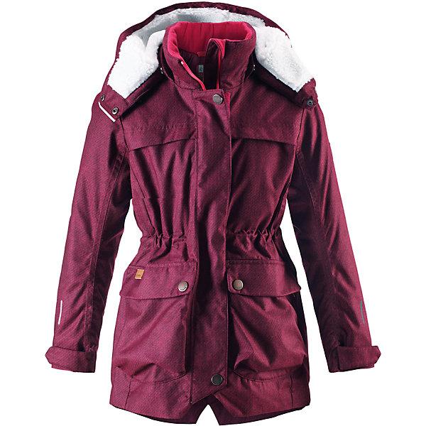 Куртка Reima Pirkko для девочкиОдежда<br>Характеристики товара:<br><br>• цвет: темно-розовый;<br>• состав: 100% полиэстер;<br>• подкладка: 100% полиэстер;<br>• утеплитель: 140 г/м2;<br>• сезон: зима;<br>• температурный режим: от 0 до -20С;<br>• водонепроницаемость: 3000 мм;<br>• воздухопроницаемость: 7000 мм;<br>• износостойкость: 10000 циклов (тест Мартиндейла);<br>• водо- и ветронепроницаемый, дышащий и грязеотталкивающий материал;<br>• основные швы проклеены и не пропускают влагу;<br>• застежка: молния с дополнительной планкой;<br>• махровая подкладка на капюшоне;<br>• теплая стеганая подкладка;<br>• безопасный съемный капюшон;<br>• регулируемые манжеты;<br>• внутренняя регулировка обхвата талии;<br>• удлиненный подол сзади;<br>• два кармана с кнопками:<br>• светоотражающие детали;<br>• страна бренда: Финляндия;<br>• страна изготовитель: Китай.<br><br>Теплая, водо и ветронепроницаемая зимняя куртка Reimatec® для детей и подростков. Материал куртки не только водонепроницаемый, ветронепроницаемый и при этом дышащий, но также имеет водо и грязеотталкивающую поверхность. Все основные швы проклеены, водонепроницаемы. Верхняя часть куртки и капюшон подбиты теплой стеганой подкладкой.<br><br>Куртка снабжена съемным капюшоном, что обеспечивает дополнительную безопасность во время активных прогулок – капюшон легко отстегивается, если случайно за что-нибудь зацепится. Образ довершают практичные детали: два больших кармана с клапанами, длинная молния высокого качества и светоотражающие элементы.<br><br>Куртку Pirkko для девочки Reima от финского бренда Reima (Рейма) можно купить в нашем интернет-магазине<br><br>Ширина мм: 356<br>Глубина мм: 10<br>Высота мм: 245<br>Вес г: 519<br>Цвет: розовый<br>Возраст от месяцев: 36<br>Возраст до месяцев: 48<br>Пол: Женский<br>Возраст: Детский<br>Размер: 104,164,158,152,146,140,134,128,122,116,110<br>SKU: 6968133