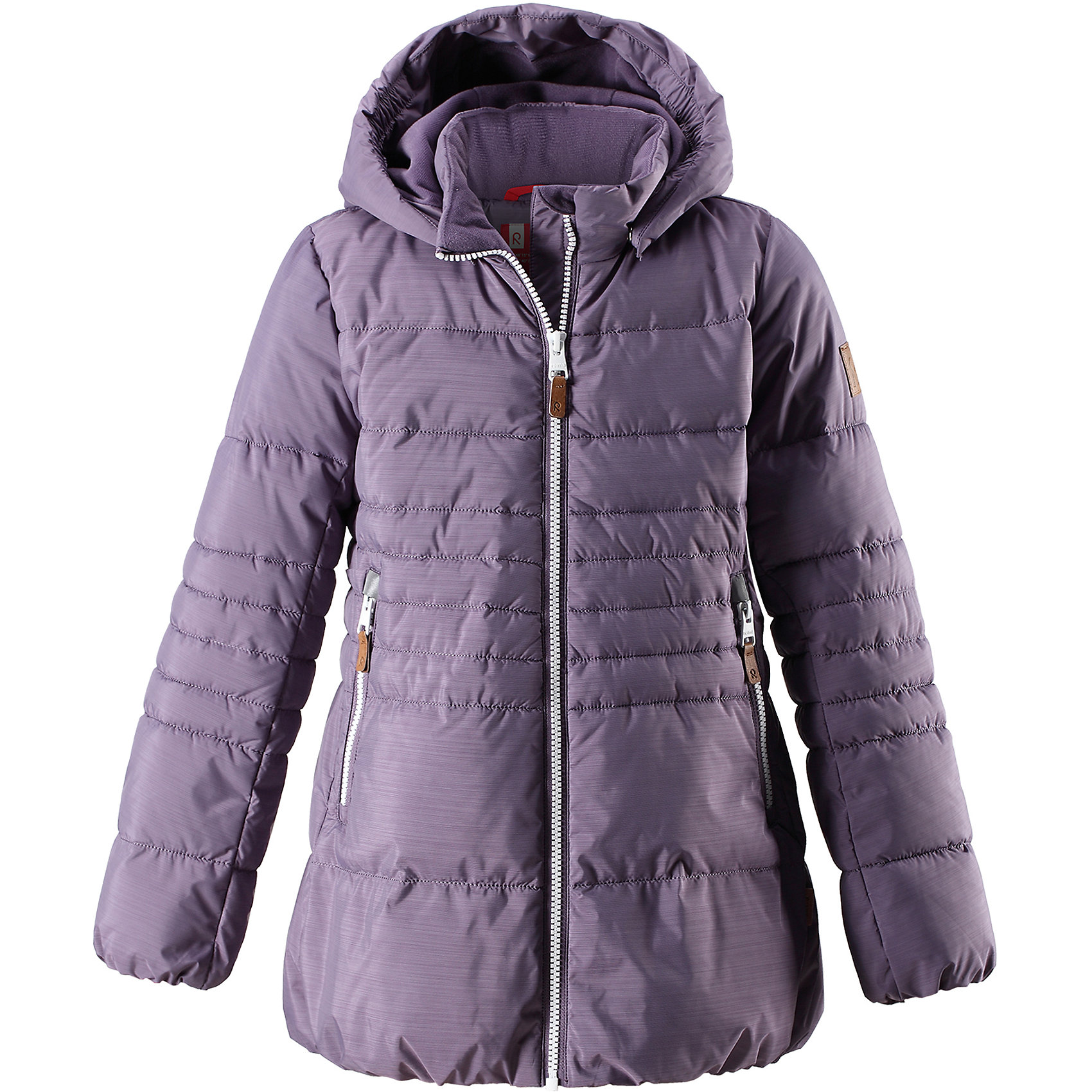 Куртка Reima Liisa для девочкиВерхняя одежда<br>Характеристики товара:<br><br>• цвет: фиолетовый;<br>• состав: 100% полиэстер;<br>• подкладка: 100% полиэстер;<br>• утеплитель: искусственный пух;<br>• сезон: зима;<br>• температурный режим: от 0 до -20С;<br>• водонепроницаемость: 10000 мм;<br>• воздухопроницаемость: 11000 мм;<br>• износостойкость: 30000 циклов (тест Мартиндейла);<br>• водо- и ветронепроницаемый, дышащий и грязеотталкивающий материал;<br>• все швы проклеены и водонепроницаемы;<br>• застежка: молния с защитой подбородка;<br>• гладкая подкладка из полиэстера;<br>• безопасный съемный капюшон;<br>• эластичные манжеты и подол;<br>• два кармана на молнии;<br>• светоотражающие детали;<br>• страна бренда: Финляндия;<br>• страна изготовитель: Китай.<br><br>Детская непромокаемая зимняя куртка изготовлена из водо и ветронепроницаемого, дышащего материала с грязеотталкивающими свойствами. Благодаря гладкой подкладке из полиэстера, куртку легко надевать и удобно носить даже с дополнительным теплым промежуточным слоем.<br><br>Эта модель для девочек снабжена эластичным подолом и манжетами. Съемный и регулируемый капюшон защищает от пронизывающего ветра и дождя, а еще он безопасен во время игр на свежем воздухе. В куртке предусмотрены два кармана на молнии и светоотражающие детали.<br><br>Куртку Liisa для девочки Reima от финского бренда Reima (Рейма) можно купить в нашем интернет-магазине<br><br>Ширина мм: 356<br>Глубина мм: 10<br>Высота мм: 245<br>Вес г: 519<br>Цвет: лиловый<br>Возраст от месяцев: 156<br>Возраст до месяцев: 168<br>Пол: Женский<br>Возраст: Детский<br>Размер: 164,158,152,146,140,134,128,122,116,110,104<br>SKU: 6968239