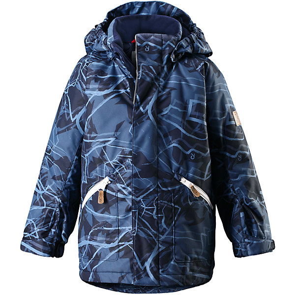 Куртка Reimatec® Reima Nappaa для мальчикаОдежда<br>Характеристики товара:<br><br>• цвет: синий принт<br>• состав: 100% полиэстер;<br>• подкладка: 100% полиэстер;<br>• утеплитель: 160 г/м2 Soft Loft insulation;<br>• сезон: зима;<br>• температурный режим: от 0 до -20С;<br>• водонепроницаемость: 8000 мм;<br>• воздухопроницаемость: 7000 мм;<br>• износостойкость: 30000 циклов (тест Мартиндейла);<br>• водо- и ветронепроницаемый, дышащий и грязеотталкивающий материал;<br>• основные швы проклеены и не пропускают влагу;<br>• застежка: молния с защитой подбородка;<br>• гладкая подкладка из полиэстера;<br>• безопасный съемный капюшон;<br>• регулируемые манжеты;<br>• регулируемый обхват талии и подол;<br>• два кармана на молнии;<br>• светоотражающие детали;<br>• страна бренда: Финляндия;<br>• страна изготовитель: Китай.<br><br>Детская зимняя куртка Reimatec® изготовлена из износостойкого, водо и ветронепроницаемого, дышащего материала с водо и грязеотталкивающей поверхностью. Основные швы в куртке проклеены и водонепроницаемы, поэтому неожиданный снегопад или дождь не помешает веселым играм на свежем воздухе! <br><br>Эта куртка с подкладкой из гладкого полиэстера легко надевается, и ее очень удобно носить. Благодаря регулируемой талии и подолу, эта куртка прямого кроя отлично сидит по фигуре. Капюшон снабжен кнопками. Это обеспечивает дополнительную безопасность во время активных прогулок – капюшон легко отстегивается, если случайно за что-нибудь зацепится. Регулируемые манжеты, два передних кармана на молнии и светоотражающие детали.<br><br>Куртку Reimatec® Reima Nappaa от финского бренда Reima (Рейма) можно купить в нашем интернет-магазине.<br>Ширина мм: 356; Глубина мм: 10; Высота мм: 245; Вес г: 519; Цвет: синий; Возраст от месяцев: 48; Возраст до месяцев: 60; Пол: Мужской; Возраст: Детский; Размер: 110,140,122,128,134,104,116; SKU: 6968251;