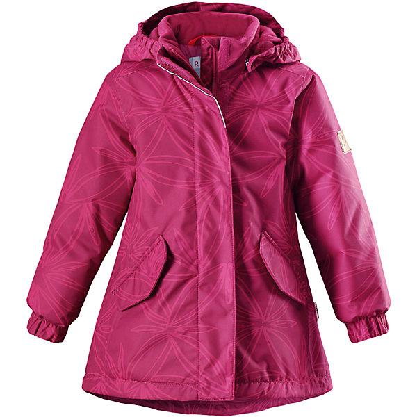 Куртка Reimatec® Reima Jousi для девочкиОдежда<br>Характеристики товара:<br><br>• цвет: розовый;<br>• состав: 100% полиэстер;<br>• подкладка: 100% полиэстер;<br>• утеплитель: 160 г/м2 Soft Loft insulation;<br>• сезон: зима;<br>• температурный режим: от 0 до -20С;<br>• водонепроницаемость: 8000 мм;<br>• воздухопроницаемость: 7000 мм;<br>• износостойкость: 30000 циклов (тест Мартиндейла);<br>• водо- и ветронепроницаемый, дышащий и грязеотталкивающий материал;<br>• основные швы проклеены и не пропускают влагу;<br>• застежка: молния с защитой подбородка;<br>• гладкая подкладка из полиэстера;<br>• безопасный съемный капюшон;<br>• регулируемые манжеты;<br>• регулируемый обхват талии и подол;<br>• два кармана с кнопками;<br>• светоотражающие детали;<br>• страна бренда: Финляндия;<br>• страна изготовитель: Китай.<br><br>Детская зимняя куртка Reimatec® изготовлена из износостойкого, водо и ветронепроницаемого, дышащего материала с водо и грязеотталкивающей поверхностью. Основные швы в куртке проклеены и водонепроницаемы, поэтому неожиданный снегопад или дождь не помешает веселым играм на свежем воздухе! Эта куртка с подкладкой из гладкого полиэстера легко надевается, и ее очень удобно носить. <br><br>Благодаря регулируемой талии и подолу эта куртка прямого кроя отлично сидит по фигуре. Капюшон снабжен кнопками. Это обеспечивает дополнительную безопасность во время активных прогулок – капюшон легко отстегивается, если случайно за что-нибудь зацепится. Эластичные манжеты, два передних кармана с клапанами и светоотражающие детали.<br><br>Куртку Reimatec® Reima Jousi от финского бренда Reima (Рейма) можно купить в нашем интернет-магазине.<br>Ширина мм: 356; Глубина мм: 10; Высота мм: 245; Вес г: 519; Цвет: розовый; Возраст от месяцев: 36; Возраст до месяцев: 48; Пол: Женский; Возраст: Детский; Размер: 104,140,134,128,122,116,110; SKU: 6968259;