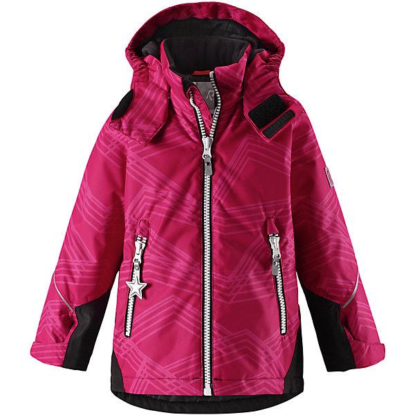 Куртка Reimatec® Reima Grane для девочкиОдежда<br>Характеристики товара:<br><br>• цвет: розовый;<br>• состав: 100% полиэстер;<br>• утеплитель: 160 г/м2;<br>• сезон: зима;<br>• температурный режим: от 0 до -20С;<br>• водонепроницаемость: 8000 мм;<br>• воздухопроницаемость: 7000 мм;<br>• износостойкость: 30000 циклов (тест Мартиндейла);<br>• водо и ветронепроницаемый, дышащий и грязеотталкивающий материал;<br>• все швы проклеены и водонепроницаемы;<br>• безопасный съемный капюшон на кнопках;<br>• застежка: молния с защитой подбородка от защемления;<br>• прочные усиленные вставки на рукавах и спинке;<br>• гладкая подкладка из полиэстера;<br>• регулируемые манжеты рукавов на липучке;<br>• регулируемый подол и талия;<br>• два кармана на молнии;<br>• логотип Reima® на рукаве и внизу спины;<br>• светоотражающие элементы;<br>• страна бренда: Финляндия;<br>• страна производства: Китай.<br><br>Сверхпрочная зимняя куртка Reimatec ® Kiddo. Куртка с капюшоном Reimatec ® Kiddo изготовлена из износостойкого, дышащего, водо и ветронепроницаемого материала с водо и грязеотталкивающей поверхностью. Все швы проклеены, водонепроницаемы. Рукава и спинка снабжены прочными усилениями, которые защищают участки, больше всего подверженные износу во время подвижных игр и катания на санках.<br><br>У куртки прямой покрой с регулируемой талией и подолом, так что силуэт можно сделать более облегающим. Концы рукавов тоже регулируются застежкой на липучке, как раз под ширину перчаток. Съемный капюшон защищает от холодного ветра, а еще обеспечивает дополнительную безопасность во время игр на улице. Куртка снабжена гладкой подкладкой из полиэстера, двумя карманами на молнии и светоотражателями.<br><br>Куртка Grane Reimatec® Reima можно купить в нашем интернет-магазине<br>Ширина мм: 356; Глубина мм: 10; Высота мм: 245; Вес г: 519; Цвет: розовый; Возраст от месяцев: 36; Возраст до месяцев: 48; Пол: Женский; Возраст: Детский; Размер: 104,140,134,128,122,116,110; SKU: 6968267;