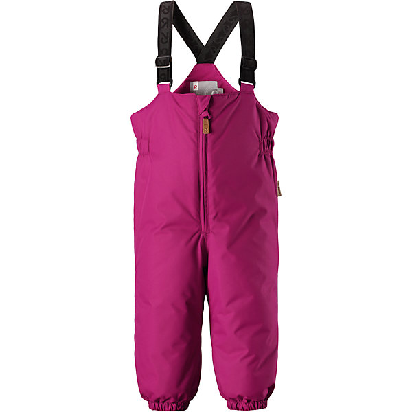 Брюки Reimatec® Reima MatiasОдежда<br>Характеристики товара:<br><br>• цвет: розовый <br>• состав: 100% полиэстер<br>• утеплитель: 100% полиэстер, 140 г/м2 (comfort insulation)<br>• сезон: зима<br>• температурный режим: от 0 до -20С<br>• водонепроницаемость: 8000 мм<br>• воздухопроницаемость: 10000 мм<br>• износостойкость: 30000 циклов (тест Мартиндейла)<br>• особенности модели: с высокой талией, с подтяжками<br>• все швы проклеены и не пропускают влагу<br>• водо- и ветронепроницаемый, дышащий и грязеотталкивающий материал<br>• гладкая подкладка из полиэстера<br>• утепленная задняя часть изделия<br>• высокая талия<br>• регулируемые подтяжки<br>• эластичные штанины<br>• съемные эластичные штрипки<br>• застежка: молния<br>• светоотражающие детали<br>• страна бренда: Финляндия<br>• страна изготовитель: Китай<br><br>Зимние брюки на подтяжках зготовлены они из ветронепроницаемого и дышащего материала, так что даже во время самых активных занятий ребенок в них не вспотеет. Кроме того, материал имеет водо и грязеотталкивающую поверхность.<br><br>Благодаря высокой талии и регулируемым подтяжкам, брюки будут сидеть точно по фигуре, а длинная молния спереди облегчит надевание. Утепленная вставка на задней части обеспечит ножкам дополнительное тепло, а брючины с эластичными штрипками на концах не будут задираться во время прогулки.<br><br>Брюки Matias Reimatec® Reima от финского бренда Reima (Рейма) можно купить в нашем интернет-магазине.<br>Ширина мм: 215; Глубина мм: 88; Высота мм: 191; Вес г: 336; Цвет: розовый; Возраст от месяцев: 12; Возраст до месяцев: 15; Пол: Унисекс; Возраст: Детский; Размер: 80,98,92,86; SKU: 6968315;
