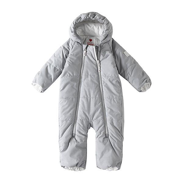 Комбинезон Reima LumikkoВерхняя одежда<br>Характеристики товара:<br><br>• цвет: серый;<br>• состав: 100% полиэстер;<br>• подкладка: 100% хлопок, джерси;<br>• утеплитель: 200 г/м2 Flex insulation;<br>• сезон: зима;<br>• температурный режим: от -10 до -30С;<br>• водонепроницаемость: 10000 мм;<br>•воздухопроницаемость: 11000;<br>• водо- и ветронепроницаемый и дышащий материал;<br>• застежка: две молнии с защитой подбородка;<br>• гладкая, приятная на ощупь подкладка из материала Jersey;<br>• фиксированный капюшон;<br>• рукава и штанины с подгибом во всех размерах;<br>• съемные эластичные штрипки в размерах от 62/68 до 74/80;<br>• светоотражающие детали;<br>• страна бренда: Финляндия;<br>• страна изготовитель: Китай.<br><br>Симпатичный и невероятно теплый комбинезон для самых маленьких! Этот комбинезон для новорожденных сшит из водо- и ветронепроницаемого материала и подбит мягкой подкладкой из джерси. Он снабжен подворачивающимися манжетами на рукавах и концах брючин, а также несъемным капюшоном.<br><br>Комбинезон Reima Lumikko от финского бренда Reima (Рейма) можно купить в нашем интернет-магазине.<br><br>Ширина мм: 356<br>Глубина мм: 10<br>Высота мм: 245<br>Вес г: 519<br>Цвет: серый<br>Возраст от месяцев: 6<br>Возраст до месяцев: 9<br>Пол: Унисекс<br>Возраст: Детский<br>Размер: 74/80,50/56,62/68<br>SKU: 6968361