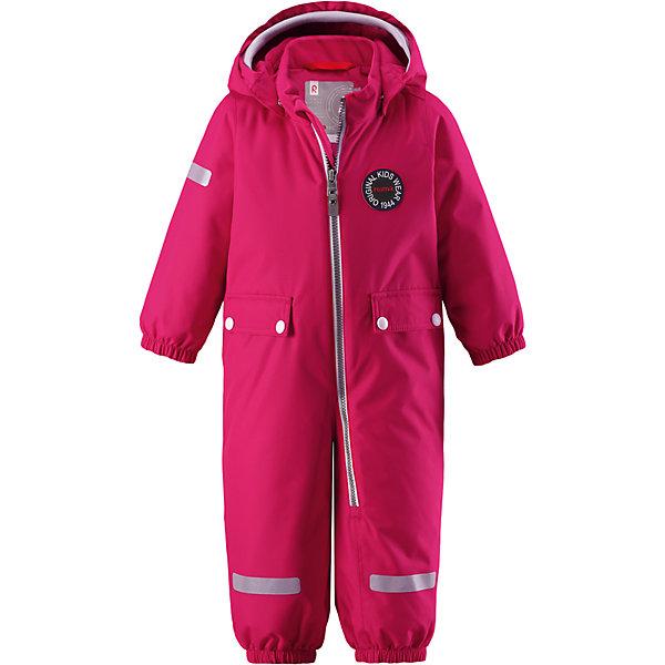 Комбинезон Reimatec® Reima Maahinen для девочкиВерхняя одежда<br>Характеристики товара:<br><br>• цвет: розовый;<br>• состав: 100% полиэстер;<br>• подкладка: 100% полиэстер;<br>• утеплитель: 160 г/м2;<br>• сезон: зима;<br>• температурный режим: от 0 до -20С;<br>• водонепроницаемость: 8000 мм;<br>• воздухопроницаемость: 10000 мм;<br>• износостойкость: 30000 циклов (тест Мартиндейла);<br>• водо- и ветронепроницаемый, дышащий и грязеотталкивающий материал;<br>• основные швы проклеены и водонепроницаемы;<br>• застежка: молния с защитой подбородка;<br>• гладкая подкладка из полиэстера;<br>• безопасный, съемный капюшон;<br>• мягкая резинка на кромке капюшона;<br>• эластичные манжеты;<br>• внутренняя регулировка обхвата талии;<br>• эластичные штанины;<br>• прочные, съемные силиконовые штрипки;<br>• два кармана с кнопками;<br>• светоотражающие детали;<br>• страна бренда: Финляндия;<br>• страна изготовитель: Китай.<br><br>В зимний вариант этой популярной модели мы добавили еще больше утеплителя. Самые важные швы в этом зимнем комбинезоне проклеены и водонепроницаемы, а сам он изготовлен из ветронепроницаемого, дышащего материала с водо и грязеотталкивающей поверхностью. У этой модели прямой покрой с регулируемой талией, так что при желании силуэт можно сделать более приталенным. <br><br>Съемный капюшон не только защищает от пронизывающего ветра, но еще и безопасен во время игр на свежем воздухе. Кнопки легко отстегиваются, если капюшон случайно за что-нибудь зацепится. Мягкая резинка по краю регулируемого капюшона, а также большие карманы с клапанами и светоотражающие детали придают образу изюминку. Благодаря силиконовым штрипкам, концы брючин не будут задираться.<br><br>Комбинезон-трансформер Reimatec®+ Reima Pouch от финского бренда Reima (Рейма) можно купить в нашем интернет-магазине.<br>Ширина мм: 356; Глубина мм: 10; Высота мм: 245; Вес г: 519; Цвет: розовый; Возраст от месяцев: 12; Возраст до месяцев: 15; Пол: Женский; Возраст: Детский; Размер: 80,98,92,86; SKU: 6968402