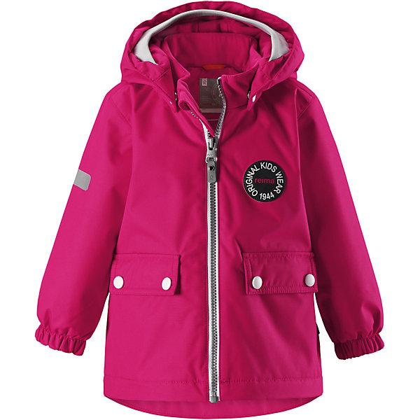 Куртка Reimatec® Reima Quilt для девочкиВерхняя одежда<br>Характеристики товара:<br><br>• цвет: розовый;<br>• состав: 100% полиэстер;<br>• подкладка: 100% полиэстер;<br>• утеплитель: 80 г/м2;<br>• сезон: демисезон, зима;<br>• температурный режим: от +5 до -15С;<br>• водонепроницаемость: 8000 мм;<br>• воздухопроницаемость: 10000 мм;<br>• износостойкость: 30000 циклов (тест Мартиндейла);<br>• водо- и ветронепроницаемый, дышащий и грязеотталкивающий материал;<br>• основные швы проклеены и водонепроницаемы;<br>• застежка: молния с защитой подбородка;<br>• гладкая подкладка из полиэстера;<br>• безопасный, съемный капюшон;<br>• мягкая резинка на кромке капюшона;<br>• эластичные манжеты;<br>• два кармана с кнопками;<br>• светоотражающие детали;<br>• страна бренда: Финляндия;<br>• страна изготовитель: Китай.<br><br>Самые важные швы в этой зимней куртке проклеены и водонепроницаемы, а сама она изготовлена из ветронепроницаемого, дышащего материала с водо и грязеотталкивающей поверхностью. Гладкая подкладка из полиэстера поможет быстро одеться. <br><br>Съемный капюшон не только защищает от пронизывающего ветра, но еще и безопасен во время игр на свежем воздухе. Кнопки легко отстегиваются, если капюшон случайно за что-нибудь зацепится. Мягкая резинка по краю регулируемого капюшона, а также большие карманы с клапанами и светоотражающие детали придают образу изюминку. <br><br>Куртку Reimatec® Reima Quilt от финского бренда Reima (Рейма) можно купить в нашем интернет-магазине.<br>Ширина мм: 356; Глубина мм: 10; Высота мм: 245; Вес г: 519; Цвет: розовый; Возраст от месяцев: 12; Возраст до месяцев: 15; Пол: Женский; Возраст: Детский; Размер: 80,98,92,86; SKU: 6968417;