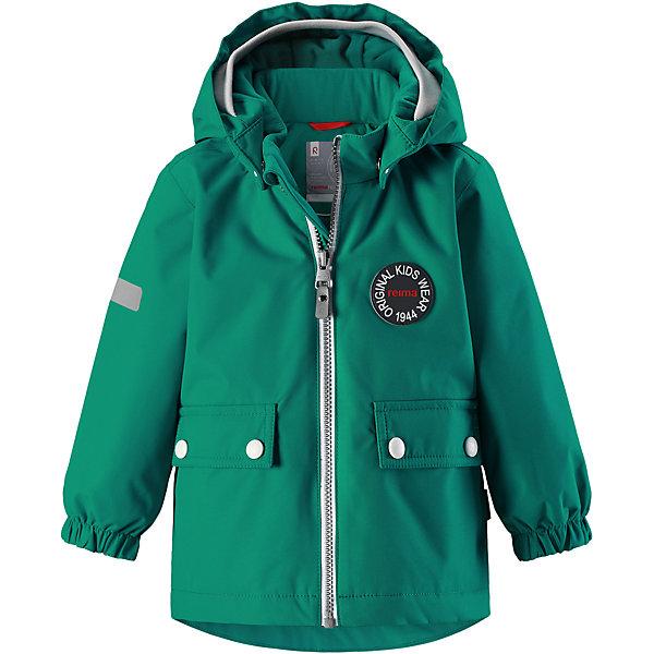 Куртка Reimatec® Reima QuiltВерхняя одежда<br>Характеристики товара:<br><br>• цвет: зеленый;<br>• состав: 100% полиэстер;<br>• подкладка: 100% полиэстер;<br>• утеплитель: 80 г/м2;<br>• сезон: демисезон, зима;<br>• температурный режим: от +5 до -15С;<br>• водонепроницаемость: 8000 мм;<br>• воздухопроницаемость: 10000 мм;<br>• износостойкость: 30000 циклов (тест Мартиндейла);<br>• водо- и ветронепроницаемый, дышащий и грязеотталкивающий материал;<br>• основные швы проклеены и водонепроницаемы;<br>• застежка: молния с защитой подбородка;<br>• гладкая подкладка из полиэстера;<br>• безопасный, съемный капюшон;<br>• мягкая резинка на кромке капюшона;<br>• эластичные манжеты;<br>• два кармана с кнопками;<br>• светоотражающие детали;<br>• страна бренда: Финляндия;<br>• страна изготовитель: Китай.<br><br>Самые важные швы в этой зимней куртке проклеены и водонепроницаемы, а сама она изготовлена из ветронепроницаемого, дышащего материала с водо и грязеотталкивающей поверхностью. Гладкая подкладка из полиэстера поможет быстро одеться. <br><br>Съемный капюшон не только защищает от пронизывающего ветра, но еще и безопасен во время игр на свежем воздухе. Кнопки легко отстегиваются, если капюшон случайно за что-нибудь зацепится. Мягкая резинка по краю регулируемого капюшона, а также большие карманы с клапанами и светоотражающие детали придают образу изюминку. <br><br>Куртку Reimatec® Reima Quilt от финского бренда Reima (Рейма) можно купить в нашем интернет-магазине.<br><br>Ширина мм: 356<br>Глубина мм: 10<br>Высота мм: 245<br>Вес г: 519<br>Цвет: зеленый<br>Возраст от месяцев: 24<br>Возраст до месяцев: 36<br>Пол: Мужской<br>Возраст: Детский<br>Размер: 98,80,92,86<br>SKU: 6968427