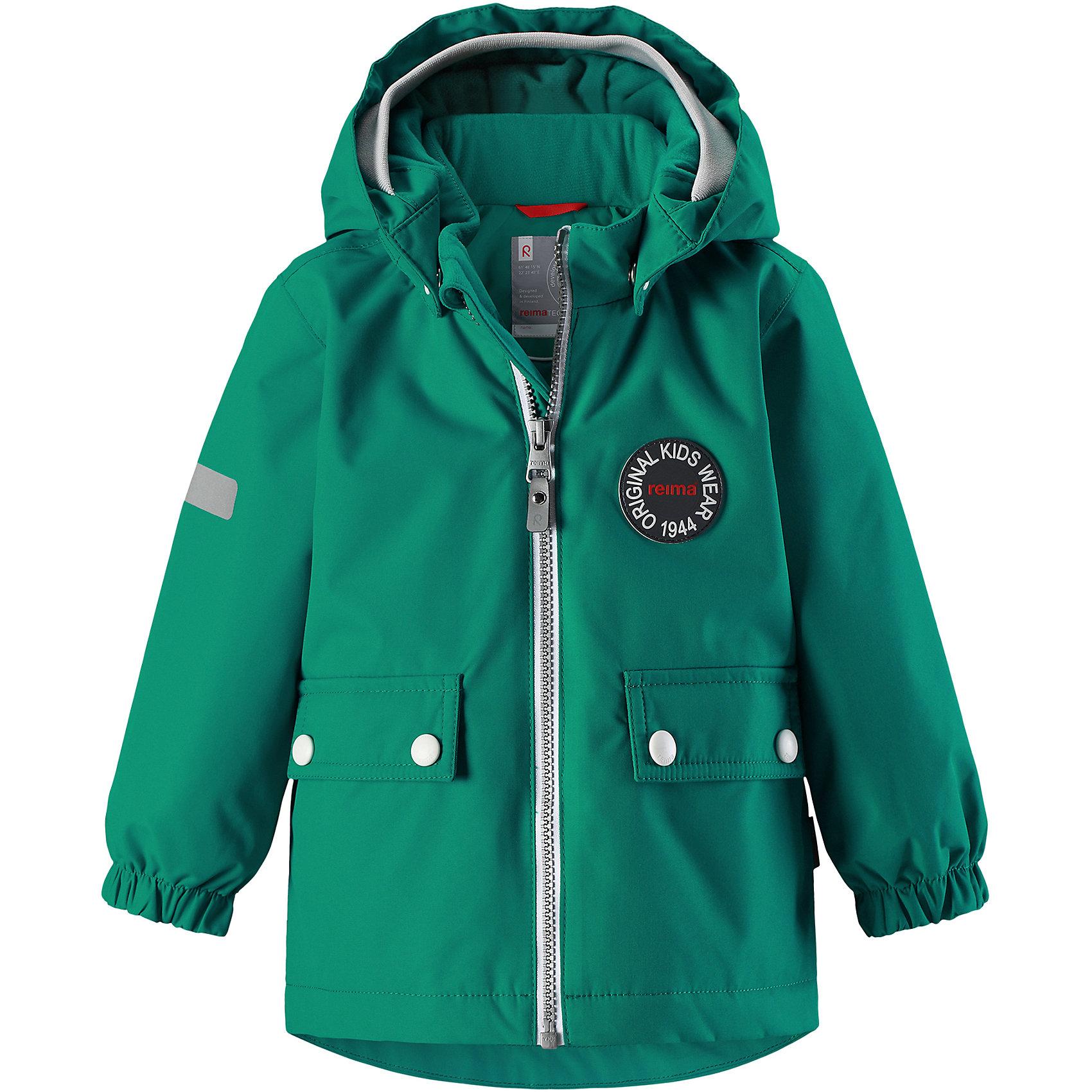 Куртка Quilt Reimatec® ReimaВерхняя одежда<br>Фасон этой очень популярной утепленной и непромокаемой куртки для малышей навеян мотивами дизайна Reima® 70-х. Самые важные швы в этой демисезонной куртке проклеены и водонепроницаемы, а сама она изготовлена из ветронепроницаемого, дышащего материала с водо- и грязеотталкивающей поверхностью. Гладкая подкладка из полиэстера поможет быстро одеться. Съемный капюшон не только защищает от пронизывающего ветра, но еще и безопасен во время игр на свежем воздухе. Кнопки легко отстегиваются, если капюшон случайно за что-нибудь зацепится. Мягкая резинка по краю регулируемого капюшона, а также большие карманы с клапанами и светоотражающие детали придают образу изюминку. Дополните ретро-образ симпатичными аксессуарами!<br>Состав:<br>100% Полиэстер<br><br>Ширина мм: 356<br>Глубина мм: 10<br>Высота мм: 245<br>Вес г: 519<br>Цвет: зеленый<br>Возраст от месяцев: 24<br>Возраст до месяцев: 36<br>Пол: Унисекс<br>Возраст: Детский<br>Размер: 98,80,86,92<br>SKU: 6968427