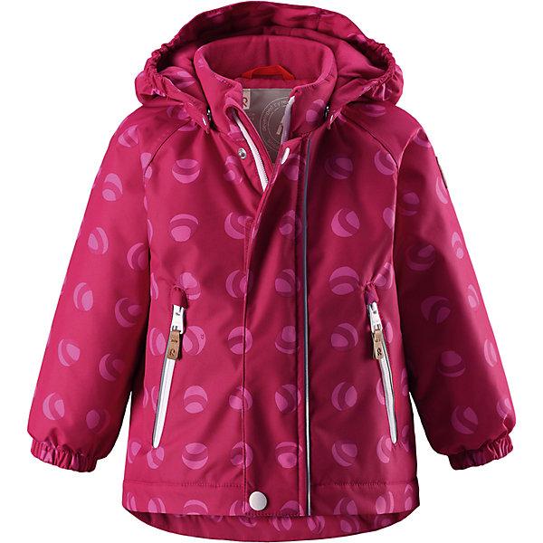 Куртка Reimatec® Reima Ruis для девочкиВерхняя одежда<br>Характеристики товара:<br><br>• цвет: розовый;<br>• состав: 100% полиэстер;<br>• подкладка: 100% полиэстер;<br>• утеплитель: 160 г/м2;<br>• сезон: демисезон, зима;<br>• температурный режим: от 0 до -20С;<br>• водонепроницаемость: 8000 мм;<br>• воздухопроницаемость: 10000 мм;<br>• износостойкость: 30000 циклов (тест Мартиндейла);<br>• водо- и ветронепроницаемый, дышащий и грязеотталкивающий материал;<br>• основные швы проклеены и водонепроницаемы;<br>• застежка: молния с защитой подбородка;<br>• гладкая подкладка из полиэстера;<br>• безопасный, съемный капюшон;<br>• эластичные манжеты;<br>• два кармана на молнии;<br>• светоотражающие детали;<br>• страна бренда: Финляндия;<br>• страна изготовитель: Китай.<br><br>Основные швы в куртке проклеены, а сама она изготовлена из водо и ветронепроницаемого, грязеотталкивающего материала. Гладкая подкладка и молния во всю длину облегчают надевание. Съемный капюшон защищает от ветра, к тому же он абсолютно безопасен – легко отстегнется, если вдруг за что-нибудь зацепится. Маленькие карманы на молнии надежно сохранят все сокровища.<br><br>Куртку Reimatec® Reima Ruis от финского бренда Reima (Рейма) можно купить в нашем интернет-магазине.<br>Ширина мм: 356; Глубина мм: 10; Высота мм: 245; Вес г: 519; Цвет: розовый; Возраст от месяцев: 24; Возраст до месяцев: 36; Пол: Женский; Возраст: Детский; Размер: 98,80,86,92; SKU: 6968432;