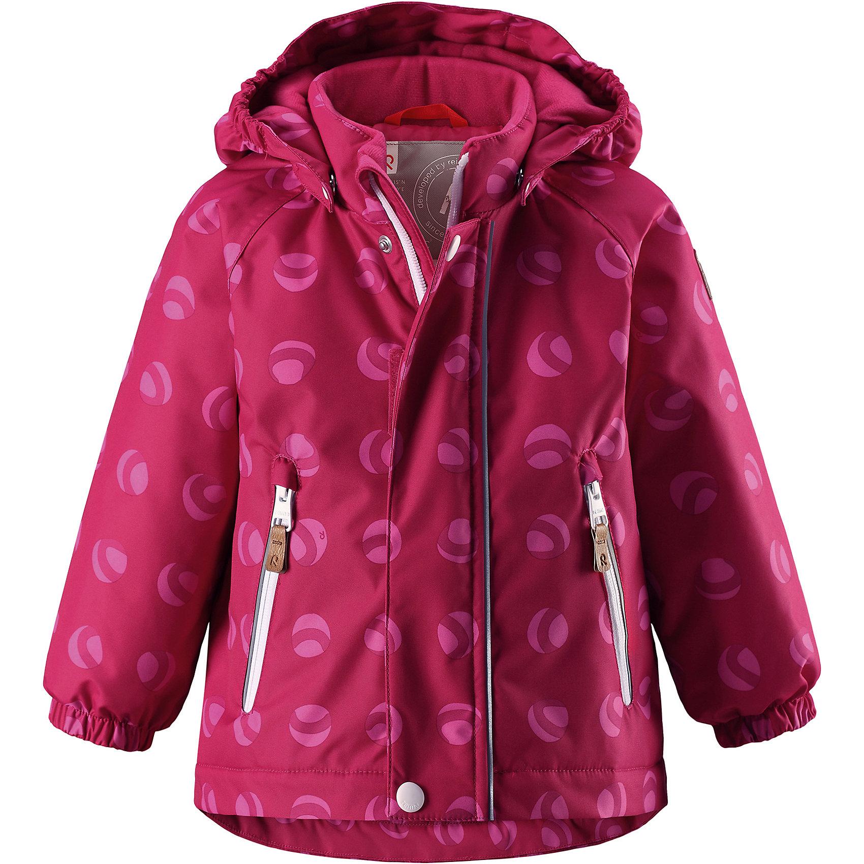 Куртка Reimatec® Reima RuisОдежда<br>Характеристики товара:<br><br>• цвет: розовый;<br>• состав: 100% полиэстер;<br>• подкладка: 100% полиэстер;<br>• утеплитель: 160 г/м2;<br>• сезон: демисезон, зима;<br>• температурный режим: от 0 до -20С;<br>• водонепроницаемость: 8000 мм;<br>• воздухопроницаемость: 10000 мм;<br>• износостойкость: 30000 циклов (тест Мартиндейла);<br>• водо- и ветронепроницаемый, дышащий и грязеотталкивающий материал;<br>• основные швы проклеены и водонепроницаемы;<br>• застежка: молния с защитой подбородка;<br>• гладкая подкладка из полиэстера;<br>• безопасный, съемный капюшон;<br>• эластичные манжеты;<br>• два кармана на молнии;<br>• светоотражающие детали;<br>• страна бренда: Финляндия;<br>• страна изготовитель: Китай.<br><br>Основные швы в куртке проклеены, а сама она изготовлена из водо и ветронепроницаемого, грязеотталкивающего материала. Гладкая подкладка и молния во всю длину облегчают надевание. Съемный капюшон защищает от ветра, к тому же он абсолютно безопасен – легко отстегнется, если вдруг за что-нибудь зацепится. Маленькие карманы на молнии надежно сохранят все сокровища.<br><br>Куртку Reimatec® Reima Ruis от финского бренда Reima (Рейма) можно купить в нашем интернет-магазине.<br><br>Ширина мм: 356<br>Глубина мм: 10<br>Высота мм: 245<br>Вес г: 519<br>Цвет: розовый<br>Возраст от месяцев: 12<br>Возраст до месяцев: 15<br>Пол: Унисекс<br>Возраст: Детский<br>Размер: 80,98,92,86<br>SKU: 6968432