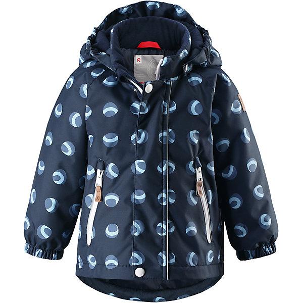 Куртка Reimatec® Reima Ruis для мальчикаВерхняя одежда<br>Характеристики товара:<br><br>• цвет: синий;<br>• состав: 100% полиэстер;<br>• подкладка: 100% полиэстер;<br>• утеплитель: 160 г/м2;<br>• сезон: демисезон, зима;<br>• температурный режим: от 0 до -20С;<br>• водонепроницаемость: 8000 мм;<br>• воздухопроницаемость: 10000 мм;<br>• износостойкость: 30000 циклов (тест Мартиндейла);<br>• водо- и ветронепроницаемый, дышащий и грязеотталкивающий материал;<br>• основные швы проклеены и водонепроницаемы;<br>• застежка: молния с защитой подбородка;<br>• гладкая подкладка из полиэстера;<br>• безопасный, съемный капюшон;<br>• эластичные манжеты;<br>• два кармана на молнии;<br>• светоотражающие детали;<br>• страна бренда: Финляндия;<br>• страна изготовитель: Китай.<br><br>Основные швы в куртке проклеены, а сама она изготовлена из водо и ветронепроницаемого, грязеотталкивающего материала. Гладкая подкладка и молния во всю длину облегчают надевание. Съемный капюшон защищает от ветра, к тому же он абсолютно безопасен – легко отстегнется, если вдруг за что-нибудь зацепится. Маленькие карманы на молнии надежно сохранят все сокровища.<br><br>Куртку Reimatec® Reima Ruis от финского бренда Reima (Рейма) можно купить в нашем интернет-магазине.<br><br>Ширина мм: 356<br>Глубина мм: 10<br>Высота мм: 245<br>Вес г: 519<br>Цвет: синий<br>Возраст от месяцев: 12<br>Возраст до месяцев: 15<br>Пол: Мужской<br>Возраст: Детский<br>Размер: 80,98,92,86<br>SKU: 6968442