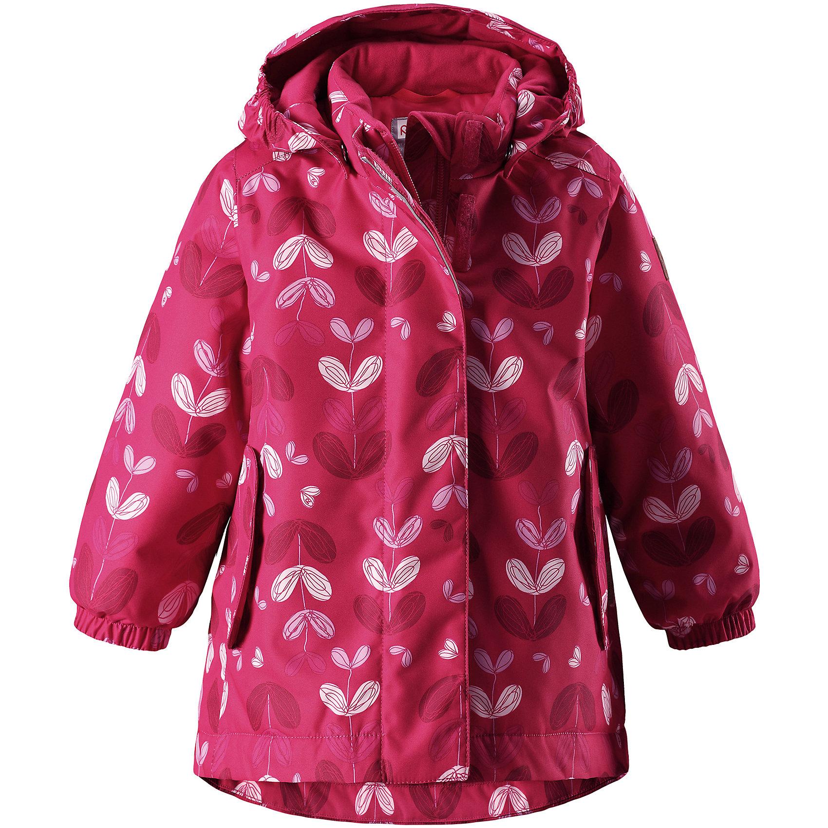 Куртка Ohra Reimatec® Reima для девочкиОдежда<br>Отличная зимняя куртка для малышей! Основные швы в куртке проклеены, а сама она изготовлена из водо- и ветронепроницаемого, грязеотталкивающего материала. Гладкая подкладка и молния во всю длину облегчают надевание. Съемный капюшон защищает от ветра, к тому же он абсолютно безопасен – легко отстегнется, если вдруг за что-нибудь зацепится. Маленькие карманы на молнии надежно сохранят все сокровища.<br>Состав:<br>100% Полиэстер<br><br>Ширина мм: 356<br>Глубина мм: 10<br>Высота мм: 245<br>Вес г: 519<br>Цвет: розовый<br>Возраст от месяцев: 12<br>Возраст до месяцев: 15<br>Пол: Женский<br>Возраст: Детский<br>Размер: 80,86,92,98<br>SKU: 6968452