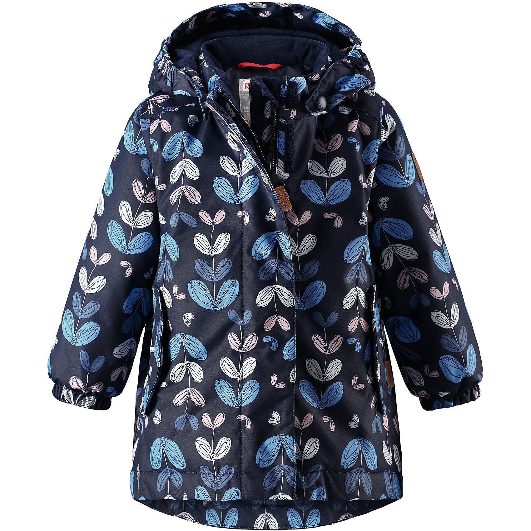 Куртка Ohra Reimatec® Reima для девочкиОдежда<br>Отличная зимняя куртка для малышей! Основные швы в куртке проклеены, а сама она изготовлена из водо- и ветронепроницаемого, грязеотталкивающего материала. Гладкая подкладка и молния во всю длину облегчают надевание. Съемный капюшон защищает от ветра, к тому же он абсолютно безопасен – легко отстегнется, если вдруг за что-нибудь зацепится. Маленькие карманы на молнии надежно сохранят все сокровища.<br>Состав:<br>100% Полиэстер<br><br>Ширина мм: 356<br>Глубина мм: 10<br>Высота мм: 245<br>Вес г: 519<br>Цвет: синий<br>Возраст от месяцев: 18<br>Возраст до месяцев: 24<br>Пол: Женский<br>Возраст: Детский<br>Размер: 92,86,80,98<br>SKU: 6968457