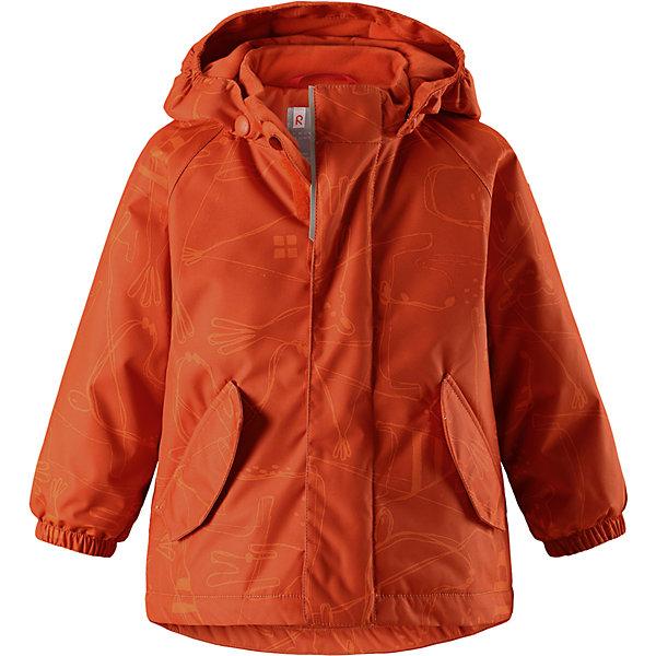 Куртка Reimatec® Reima Olki для мальчикаВерхняя одежда<br>Характеристики товара:<br><br>• цвет: оранжевый;<br>• состав: 100% полиэстер;<br>• подкладка: 100% полиэстер;<br>• утеплитель: 160 г/м2;<br>• сезон: демисезон, зима;<br>• температурный режим: от 0 до -20С;<br>• водонепроницаемость: 8000 мм;<br>• воздухопроницаемость: 10000 мм;<br>• износостойкость: 30000 циклов (тест Мартиндейла);<br>• водо- и ветронепроницаемый, дышащий и грязеотталкивающий материал;<br>• основные швы проклеены и водонепроницаемы;<br>• застежка: молния с защитой подбородка;<br>• гладкая подкладка из полиэстера;<br>• безопасный, съемный капюшон;<br>• эластичные манжеты;<br>• два кармана с кнопками;<br>• светоотражающие детали;<br>• страна бренда: Финляндия;<br>• страна изготовитель: Китай.<br><br>Основные швы в куртке проклеены, а сама она изготовлена из водо и ветронепроницаемого, грязеотталкивающего материала. Гладкая подкладка и молния во всю длину облегчают надевание. Съемный капюшон защищает от ветра, к тому же он абсолютно безопасен – легко отстегнется, если вдруг за что-нибудь зацепится. Маленькие карманы на молнии надежно сохранят все сокровища.<br><br>Куртку Reimatec® Reima Olki от финского бренда Reima (Рейма) можно купить в нашем интернет-магазине.<br><br>Ширина мм: 356<br>Глубина мм: 10<br>Высота мм: 245<br>Вес г: 519<br>Цвет: оранжевый<br>Возраст от месяцев: 12<br>Возраст до месяцев: 15<br>Пол: Мужской<br>Возраст: Детский<br>Размер: 80,98,92,86<br>SKU: 6968462