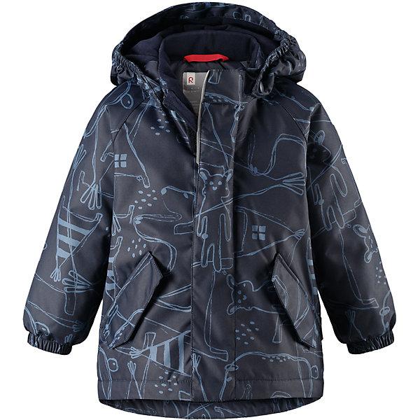 Куртка Reimatec® Reima Olki для мальчикаОдежда<br>Характеристики товара:<br><br>• цвет: синий;<br>• состав: 100% полиэстер;<br>• подкладка: 100% полиэстер;<br>• утеплитель: 160 г/м2;<br>• сезон: демисезон, зима;<br>• температурный режим: от 0 до -20С;<br>• водонепроницаемость: 8000 мм;<br>• воздухопроницаемость: 10000 мм;<br>• износостойкость: 30000 циклов (тест Мартиндейла);<br>• водо- и ветронепроницаемый, дышащий и грязеотталкивающий материал;<br>• основные швы проклеены и водонепроницаемы;<br>• застежка: молния с защитой подбородка;<br>• гладкая подкладка из полиэстера;<br>• безопасный, съемный капюшон;<br>• эластичные манжеты;<br>• два кармана с кнопками;<br>• светоотражающие детали;<br>• страна бренда: Финляндия;<br>• страна изготовитель: Китай.<br><br>Основные швы в куртке проклеены, а сама она изготовлена из водо и ветронепроницаемого, грязеотталкивающего материала. Гладкая подкладка и молния во всю длину облегчают надевание. Съемный капюшон защищает от ветра, к тому же он абсолютно безопасен – легко отстегнется, если вдруг за что-нибудь зацепится. Маленькие карманы на молнии надежно сохранят все сокровища.<br><br>Куртку Reimatec® Reima Olki от финского бренда Reima (Рейма) можно купить в нашем интернет-магазине.<br>Ширина мм: 356; Глубина мм: 10; Высота мм: 245; Вес г: 519; Цвет: синий; Возраст от месяцев: 12; Возраст до месяцев: 15; Пол: Мужской; Возраст: Детский; Размер: 80,98,92,86; SKU: 6968467;