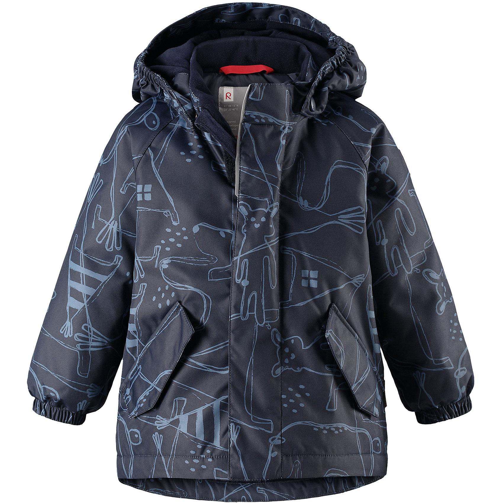 Куртка Reimatec® Reima Olki для мальчикаОдежда<br>Характеристики товара:<br><br>• цвет: синий;<br>• состав: 100% полиэстер;<br>• подкладка: 100% полиэстер;<br>• утеплитель: 160 г/м2;<br>• сезон: демисезон, зима;<br>• температурный режим: от 0 до -20С;<br>• водонепроницаемость: 8000 мм;<br>• воздухопроницаемость: 10000 мм;<br>• износостойкость: 30000 циклов (тест Мартиндейла);<br>• водо- и ветронепроницаемый, дышащий и грязеотталкивающий материал;<br>• основные швы проклеены и водонепроницаемы;<br>• застежка: молния с защитой подбородка;<br>• гладкая подкладка из полиэстера;<br>• безопасный, съемный капюшон;<br>• эластичные манжеты;<br>• два кармана с кнопками;<br>• светоотражающие детали;<br>• страна бренда: Финляндия;<br>• страна изготовитель: Китай.<br><br>Основные швы в куртке проклеены, а сама она изготовлена из водо и ветронепроницаемого, грязеотталкивающего материала. Гладкая подкладка и молния во всю длину облегчают надевание. Съемный капюшон защищает от ветра, к тому же он абсолютно безопасен – легко отстегнется, если вдруг за что-нибудь зацепится. Маленькие карманы на молнии надежно сохранят все сокровища.<br><br>Куртку Reimatec® Reima Olki от финского бренда Reima (Рейма) можно купить в нашем интернет-магазине.<br><br>Ширина мм: 356<br>Глубина мм: 10<br>Высота мм: 245<br>Вес г: 519<br>Цвет: синий<br>Возраст от месяцев: 24<br>Возраст до месяцев: 36<br>Пол: Мужской<br>Возраст: Детский<br>Размер: 98,80,86,92<br>SKU: 6968467
