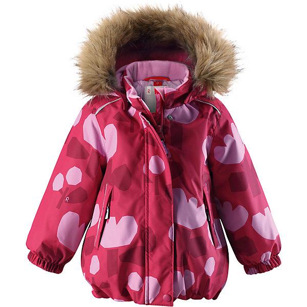 Куртка Reimatec® Reima Pihlaja для девочкиОдежда<br>Характеристики товара:<br><br>• цвет: розовый <br>• состав: 100% полиэстер<br>• утеплитель: 100% полиэстер, 160 г/м2 (soft loft insulation)<br>• сезон: зима<br>• температурный режим: от 0 до -20С<br>• водонепроницаемость: 15000 мм<br>• воздухопроницаемость: 7000 мм<br>• износостойкость: 40000 циклов (тест Мартиндейла)<br>• особенности модели: с рисунком, с мехом<br>• основные швы проклеены и не пропускают влагу<br>• водо- и ветронепроницаемый, дышащий и грязеотталкивающий материал<br>• гладкая подкладка из полиэстера<br>• безопасный, съемный капюшон на кнопках<br>• съемный искусственный мех на капюшоне<br>• защита подбородка от защемления<br>• эластичные манжеты<br>• регулируемый подол<br>• застежка: молния<br>• дополнительная планка на кнопках<br>• два кармана на молнии<br>• светоотражающие детали<br>• страна бренда: Финляндия<br>• страна изготовитель: Китай<br><br>Зимняя куртка с капюшоном для девочки. Все швы проклеены и водонепроницаемы, а сама она изготовлена из водо и ветронепроницаемого, грязеотталкивающего материала. Гладкая подкладка и длинная застежка на молнии облегчают надевание.<br><br>Съемный капюшон защищает от ветра, к тому же он абсолютно безопасен – легко отстегнется, если вдруг за что-нибудь зацепится. Маленькие карманы на молнии надежно сохранят все сокровища. Обратите внимание: куртку можно сушить в сушильной машине. Зимняя куртка на молнии для девочки декорирована абстрактным рисунком.<br><br>Куртка Pihlaja для девочки Reimatec® Reima от финского бренда Reima (Рейма) можно купить в нашем интернет-магазине.<br>Ширина мм: 356; Глубина мм: 10; Высота мм: 245; Вес г: 519; Цвет: розовый; Возраст от месяцев: 24; Возраст до месяцев: 36; Пол: Женский; Возраст: Детский; Размер: 98,80,86,92; SKU: 6968472;