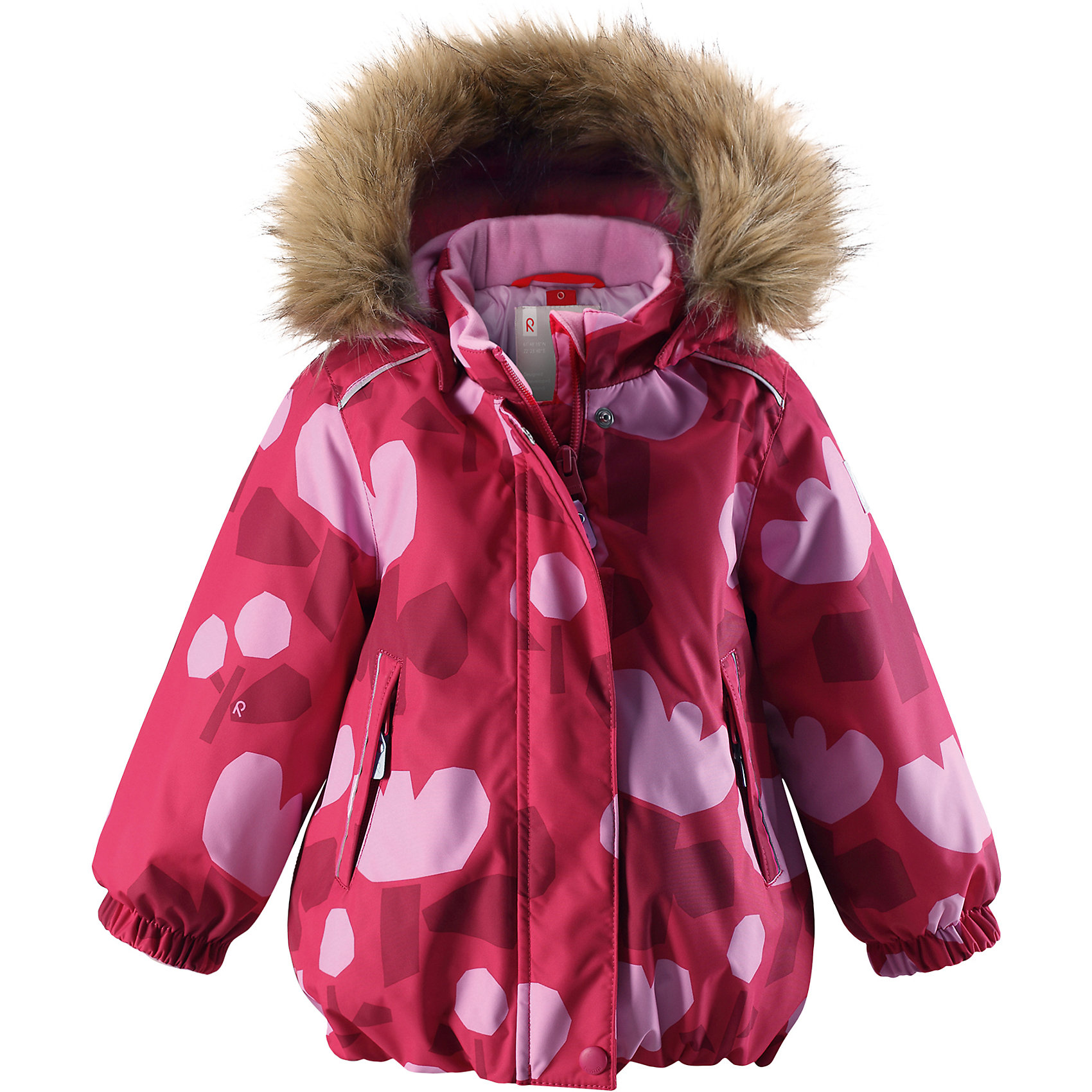 Куртка Pihlaja Reimatec® Reima для мальчикаОдежда<br>Отличная зимняя куртка для малышей! Все швы проклеены и водонепроницаемы, а сама она изготовлена из водо- и ветронепроницаемого, грязеотталкивающего материала. Гладкая подкладка и длинная застежка на молнии облегчают надевание. Съемный капюшон защищает от ветра, к тому же он абсолютно безопасен – легко отстегнется, если вдруг за что-нибудь зацепится. Маленькие карманы на молнии надежно сохранят все сокровища. Обратите внимание: куртку можно сушить в сушильной машине.<br>Состав:<br>100% Полиэстер<br><br>Ширина мм: 356<br>Глубина мм: 10<br>Высота мм: 245<br>Вес г: 519<br>Цвет: розовый<br>Возраст от месяцев: 24<br>Возраст до месяцев: 36<br>Пол: Мужской<br>Возраст: Детский<br>Размер: 98,80,86,92<br>SKU: 6968472