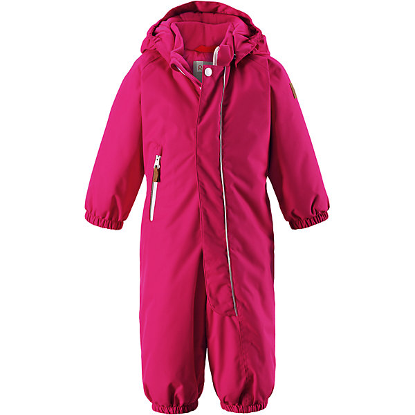Комбинезон Reimatec® Reima PuhuriВерхняя одежда<br>Характеристики товара:<br><br>• цвет: розовый<br>• состав: 100% полиэстер<br>• утеплитель: 160 г/м2 (soft loft insulation)<br>• сезон: зима<br>• температурный режим: от 0 до -20С<br>• водонепроницаемость: 8000 мм<br>• воздухопроницаемость: 10000 мм<br>• износостойкость: 30000 циклов (тест Мартиндейла)<br>• особенности модели: с рисунком<br>• основные швы проклеены и не пропускают влагу<br>• водо- и ветронепроницаемый, дышащий и грязеотталкивающий материал<br>• утепленная задняя часть изделия<br>• гладкая подкладка из полиэстера<br>• безопасный, съемный капюшон<br>• защита подбородка от защемления<br>• эластичные манжеты и штанины<br>• внутренняя регулировка обхвата талии<br>• съемные эластичные штрипки <br>• длинная молния для легкого надевания<br>• карман на молнии<br>• светоотражающие детали<br>• страна бренда: Финляндия<br>• страна изготовитель: Китай<br><br>Зимний комбинезон на молнии для малышей! Основные швы комбинезона проклеены, а сам он изготовлен из водо и ветронепроницаемого, грязеотталкивающего материала. Утепленная задняя часть обеспечит дополнительное утепление во время игр в снегу.<br><br>Гладкая подкладка и длинная молния облегчают надевание, а талия в комбинезоне регулируется. Маленький карман на молнии надежно сохранит все сокровища. Зимний комбинезон с капюшоном для мальчика декорирован рисунком с мячиками.<br><br>Комбинезон Puhuri Reimatec® Reima от финского бренда Reima (Рейма) можно купить в нашем интернет-магазине.<br>Ширина мм: 356; Глубина мм: 10; Высота мм: 245; Вес г: 519; Цвет: розовый; Возраст от месяцев: 6; Возраст до месяцев: 9; Пол: Женский; Возраст: Детский; Размер: 74,98,92,86,80; SKU: 6968501;