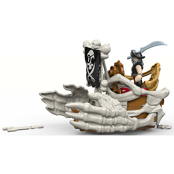 Набор Капитан Немо и скат Billy Bones Boat, Fisher Price, ImaginextФигурки из мультфильмов<br>Характеристики товара:<br><br>• возраст: от 3 лет;<br>• материал: пластик;<br>• в комплекте: фигурка, аксессуары;<br>• размер упаковки: 21,5х10х19 см;<br>• вес упаковки: 464 гр.;<br>• страна производитель: Китай.<br><br>Игровой набор «Капитан Немо и скат Billy Bones Boat» Imaginext Fisher Price позволит детям устроить невероятные интересные игры про пиратов. В комплекте фигурка пирата, у которой подвижные руки и ноги, и грозный пиратский корабль с флагом. Игрушка выполнена из качественного безопасного пластика.<br><br>Игровой набор «Капитан Немо и скат Billy Bones Boat» Imaginext Fisher Price можно приобрести в нашем интернет-магазине.<br><br>Ширина мм: 215<br>Глубина мм: 100<br>Высота мм: 190<br>Вес г: 464<br>Возраст от месяцев: 36<br>Возраст до месяцев: 96<br>Пол: Мужской<br>Возраст: Детский<br>SKU: 6976850