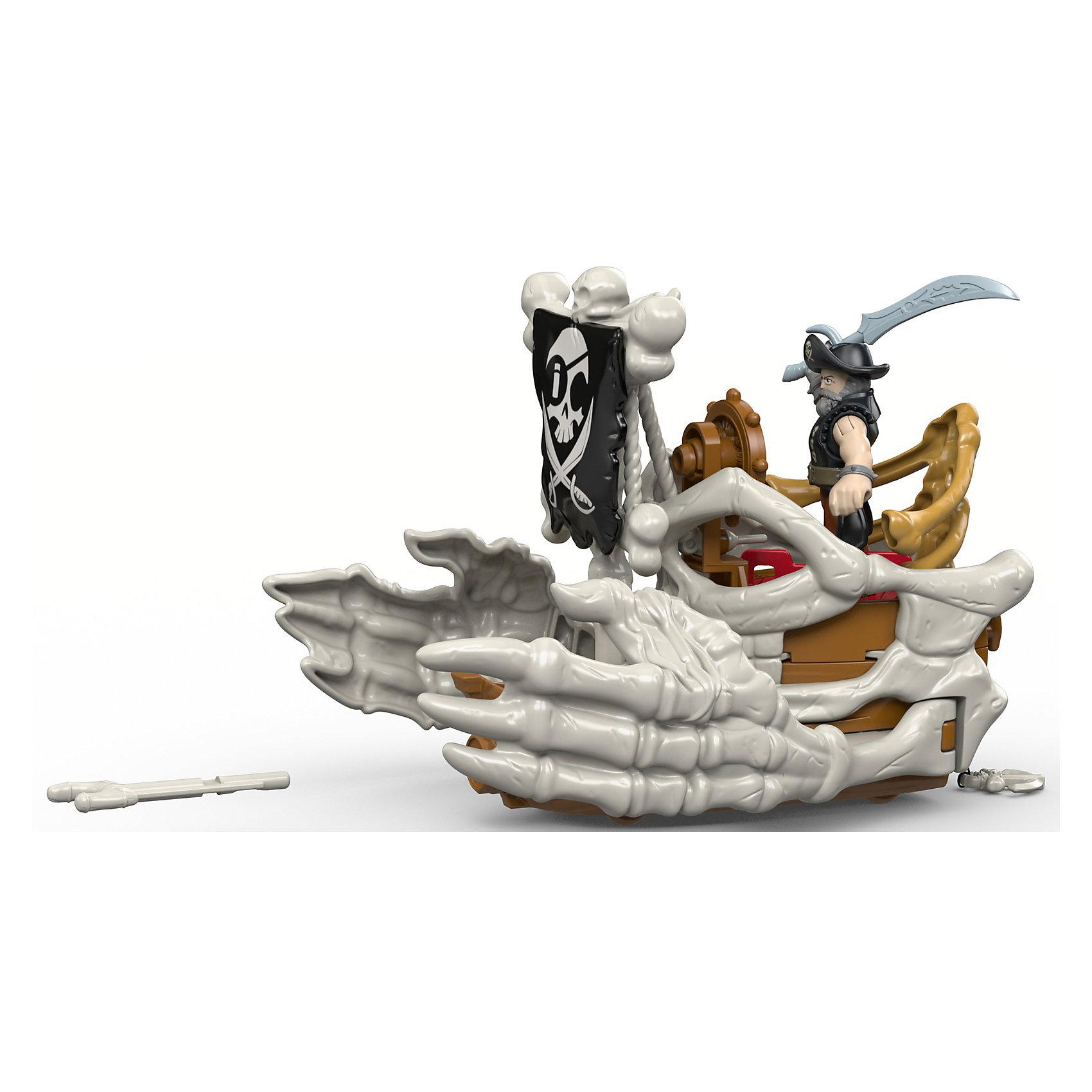 Набор Капитан Немо и скат Billy Bones Boat, Fisher Price, ImaginextКоллекционные и игровые фигурки<br><br><br>Ширина мм: 215<br>Глубина мм: 100<br>Высота мм: 190<br>Вес г: 464<br>Возраст от месяцев: 36<br>Возраст до месяцев: 96<br>Пол: Мужской<br>Возраст: Детский<br>SKU: 6976850