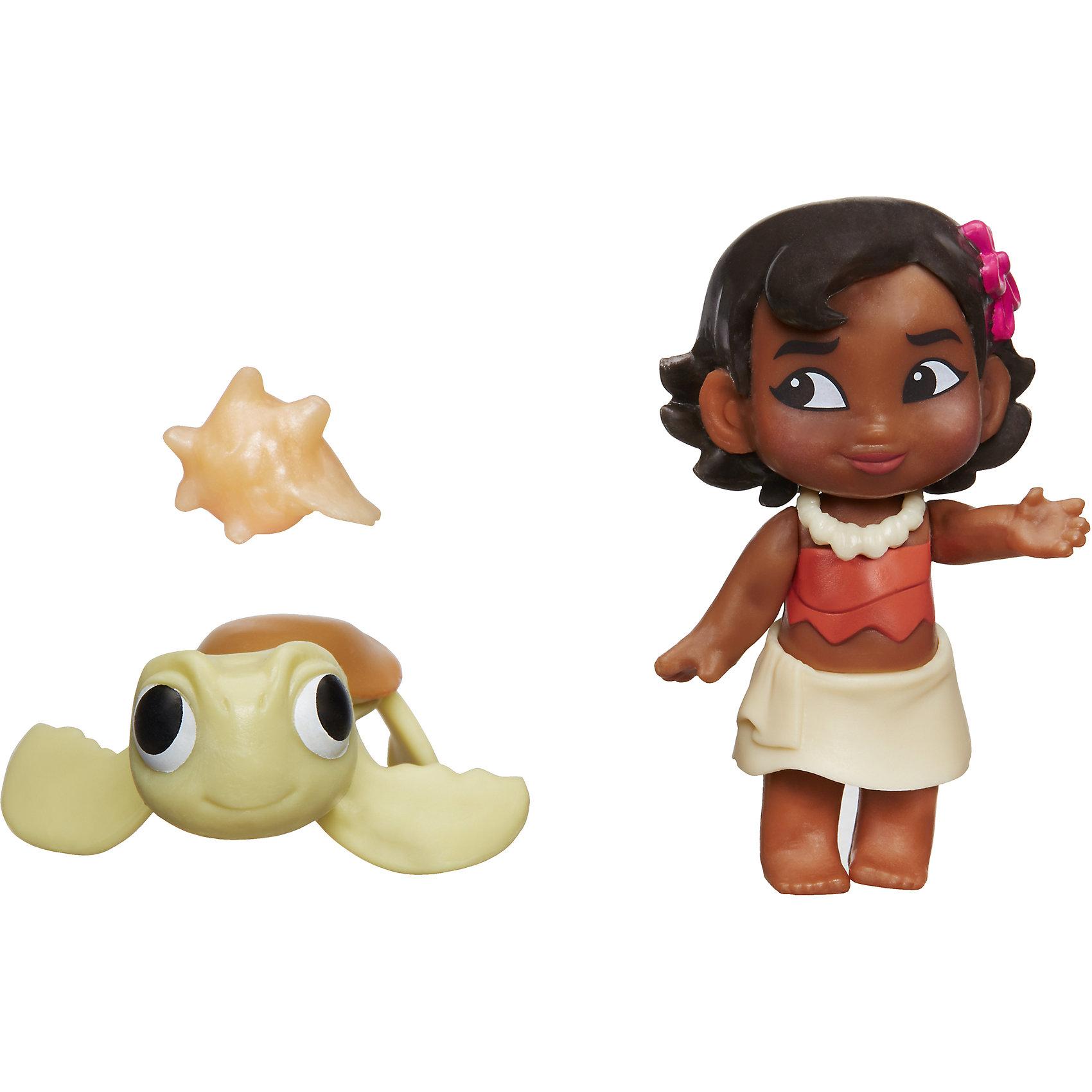Маленькая кукла Моана, B8298/C1053Любимые герои<br>Характеристики:<br><br>• возраст: от 3 лет;<br>• материал: пластик;<br>• в комплекте: кукла, черепашка, раковина;<br>• высота фигурки: 5,5 см;<br>• размер упаковки: 15,2х12,7х5,7 см;<br>• вес упаковки: 62 гр.;<br>• страна производитель: Китай.<br><br>Маленькая кукла Моана Hasbro создана по мотивам известного мультфильма Дисней про очаровательную очку вождя Моану, которая отправилась в захватывающее путешествие. В наборе представлена маленькая Моана, у которой подвижные ручки, а также черепашка и раковина.<br><br>Маленькую куклу Моану Hasbro можно приобрести в нашем интернет-магазине.<br><br>Ширина мм: 57<br>Глубина мм: 127<br>Высота мм: 152<br>Вес г: 62<br>Возраст от месяцев: 36<br>Возраст до месяцев: 144<br>Пол: Женский<br>Возраст: Детский<br>SKU: 6979810