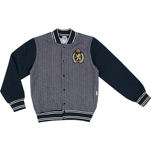 Куртка Апрель для мальчикаВерхняя одежда<br>Характеристики товара:<br><br>• цвет: серый/синий;<br>• состав: 95% хлопок, 5% лайкра;<br>• сезон: демисезон;<br>• эластичные манжеты и низ изделия;<br>• застежка: кнопки;<br>• с длинным рукавом;<br>• особенности: вязаная, школьная;<br>• страна бренда: Россия;<br>• страна производства: Россия.<br><br>Куртка для мальчика. Куртка серого цвета, с длинными рукавами контрастного синего цвета. Подходит для школы и на каждый день.<br><br>Куртку для мальчика Апрель можно купить в нашем интернет-магазине.<br>Ширина мм: 356; Глубина мм: 10; Высота мм: 245; Вес г: 519; Цвет: серый; Возраст от месяцев: 96; Возраст до месяцев: 108; Пол: Мужской; Возраст: Детский; Размер: 134,146,128,140; SKU: 6981052;