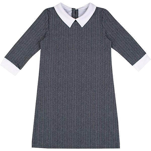 Платье Апрель для девочкиПлатья и сарафаны<br>Характеристики товара:<br><br>• цвет: серый;<br>• состав: 95% хлопок, 5% лайкра;<br>• сезон: демисезон;<br>• рукава 3/4;<br>• застежка: молния сзади;<br>• с длинным рукавом;<br>• особенности: школьное, в полоску;<br>• страна бренда: Россия;<br>• страна производства: Россия.<br><br>Школьное платье с длинным рукавом для девочки. Серое платье в мелкую полоску, рукава 3/4. Воротничок и манжеты контрастного белого цвета.<br><br>Платье для девочки Апрель можно купить в нашем интернет-магазине.<br><br>Ширина мм: 236<br>Глубина мм: 16<br>Высота мм: 184<br>Вес г: 177<br>Цвет: серый<br>Возраст от месяцев: 120<br>Возраст до месяцев: 132<br>Пол: Женский<br>Возраст: Детский<br>Размер: 146,122,140,134,128<br>SKU: 6981063