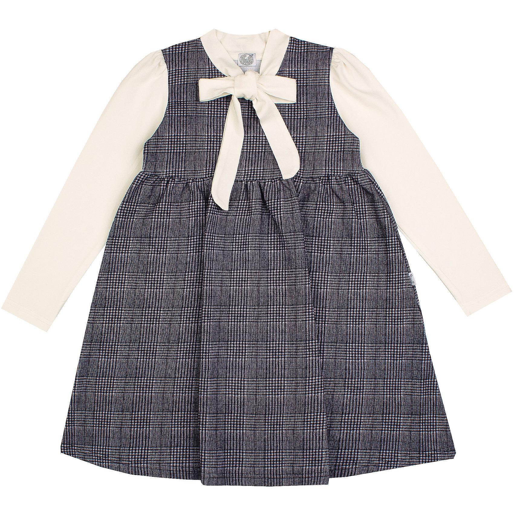 Платье Апрель для девочкиПлатья и сарафаны<br>Характеристики товара:<br><br>• цвет: серый/молочный;<br>• состав: 95% хлопок, 5% лайкра;<br>• сезон: демисезон;<br>• декоративный бантик;;<br>• застежка: молния сзади;<br>• с длинным рукавом;<br>• особенности: школьное, в клетку;<br>• страна бренда: Россия;<br>• страна производства: Россия.<br><br>Школьное платье с длинным рукавом для девочки. Серое платье в клетку. Воротничок и рукава контрастного белого цвета.<br><br>Платье для девочки Апрель можно купить в нашем интернет-магазине.<br><br>Ширина мм: 236<br>Глубина мм: 16<br>Высота мм: 184<br>Вес г: 177<br>Цвет: черный<br>Возраст от месяцев: 72<br>Возраст до месяцев: 84<br>Пол: Женский<br>Возраст: Детский<br>Размер: 122,128,134,146<br>SKU: 6981069