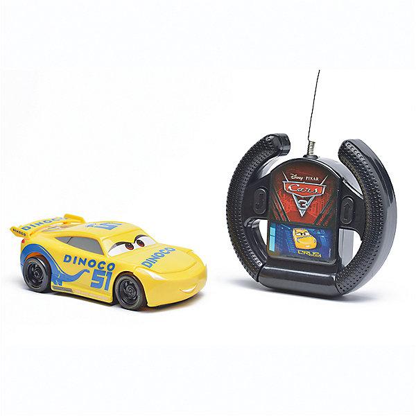 Радиоуправляемая машина Disney Крус Рамирес, 13 смРадиоуправляемые машины<br>Характеристики товара:<br><br>• размер игрушки: 13 см;<br>• управление: пульт ДУ;<br>• направление движения: вперед, разворот задним ходом;<br>• в комплекте: автомобиль, пульт ДУ;<br>• цвет: желтый/черный;<br>• материал: пластик;<br>• размер упаковки: 10х11,5х19 см;<br>• вес: 240 грамм;<br>• возраст: от 3 лет.<br><br>Крус Рамирес - молодая наставница и тренер из мультфильма «Тачки». С радиоуправляемой машинкой Disney можно устроить тренировки у себя дома. Машинка управляется пультом дистанционного управления. Имеет два направления движения: вперед, разворот задним ходом. Пульт выполнен в виде руля, поэтому ребенок сможет представить себя гонщиком, сидящим за рулем гоночного автомобиля.<br><br>Игрушка изготовлена из прочного пластика без содержания токсичных материалов. Компактный размер машинки позволяет взять игрушку с собой, чтобы устроить крутые гонки с друзьями. Размер игрушки - 13 сантиметров.<br><br>Радиоуправляемую машину Disney Крус Рамирес, 13 см можно купить в нашем интернет-магазине.<br>Ширина мм: 190; Глубина мм: 115; Высота мм: 100; Вес г: 240; Возраст от месяцев: 36; Возраст до месяцев: 72; Пол: Мужской; Возраст: Детский; SKU: 6982801;