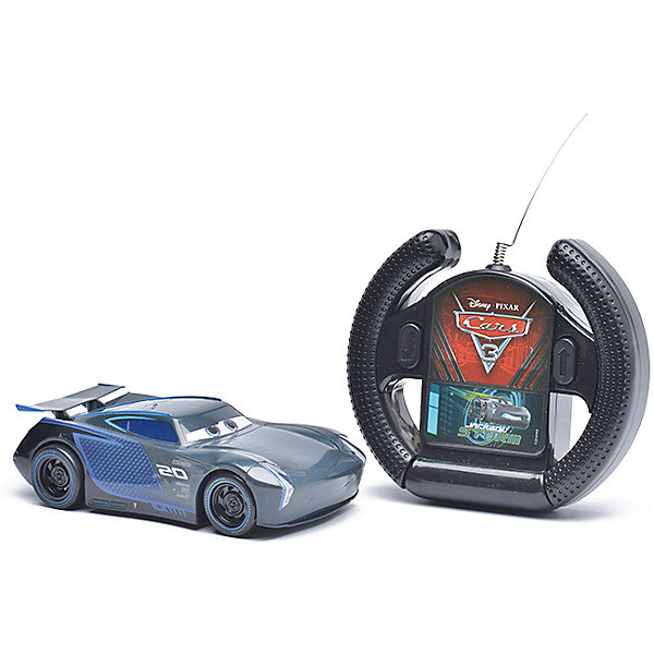 Радиоуправляемая машина Disney Джексон Шторм, 13 смРадиоуправляемые машины<br>Характеристики товара:<br><br>• размер игрушки: 13 см;<br>• управление: пульт ДУ;<br>• направление движения: вперед, разворот задним ходом;<br>• в комплекте: автомобиль, пульт ДУ;<br>• цвет: синий/черный;<br>• материал: пластик;<br>• размер упаковки: 10х11,5х19 см;<br>• вес: 240 грамм;<br>• возраст: от 3 лет.<br><br>Радиоуправляемая машинка Джексон Шторм порадует каждого поклонника мультфильма «Тачки». Джексон Шторм - главный соперник Молнии Маккуина. Ребенок сможет помочь ему победить, устроив тренировку у себя дома. Машинка управляется с помощью пульта дистанционного управления. Джексон Шторм ездит вперёд, а также разворачивается задним ходом.<br><br>Игрушка изготовлена из прочного пластика без содержания токсичных материалов. Компактный размер машинки позволяет взять игрушку с собой, чтобы устроить крутые гонки с друзьями.  Пульт выполнен в виде руля, поэтому ребенок сможет представить себя гонщиком, сидящим за рулем гоночного автомобиля. Размер игрушки - 13 сантиметров.<br><br>Радиоуправляемую машину Disney Джексон Шторм, 13 см можно купить в нашем интернет-магазине.<br><br>Ширина мм: 190<br>Глубина мм: 115<br>Высота мм: 100<br>Вес г: 240<br>Возраст от месяцев: 36<br>Возраст до месяцев: 72<br>Пол: Мужской<br>Возраст: Детский<br>SKU: 6982802