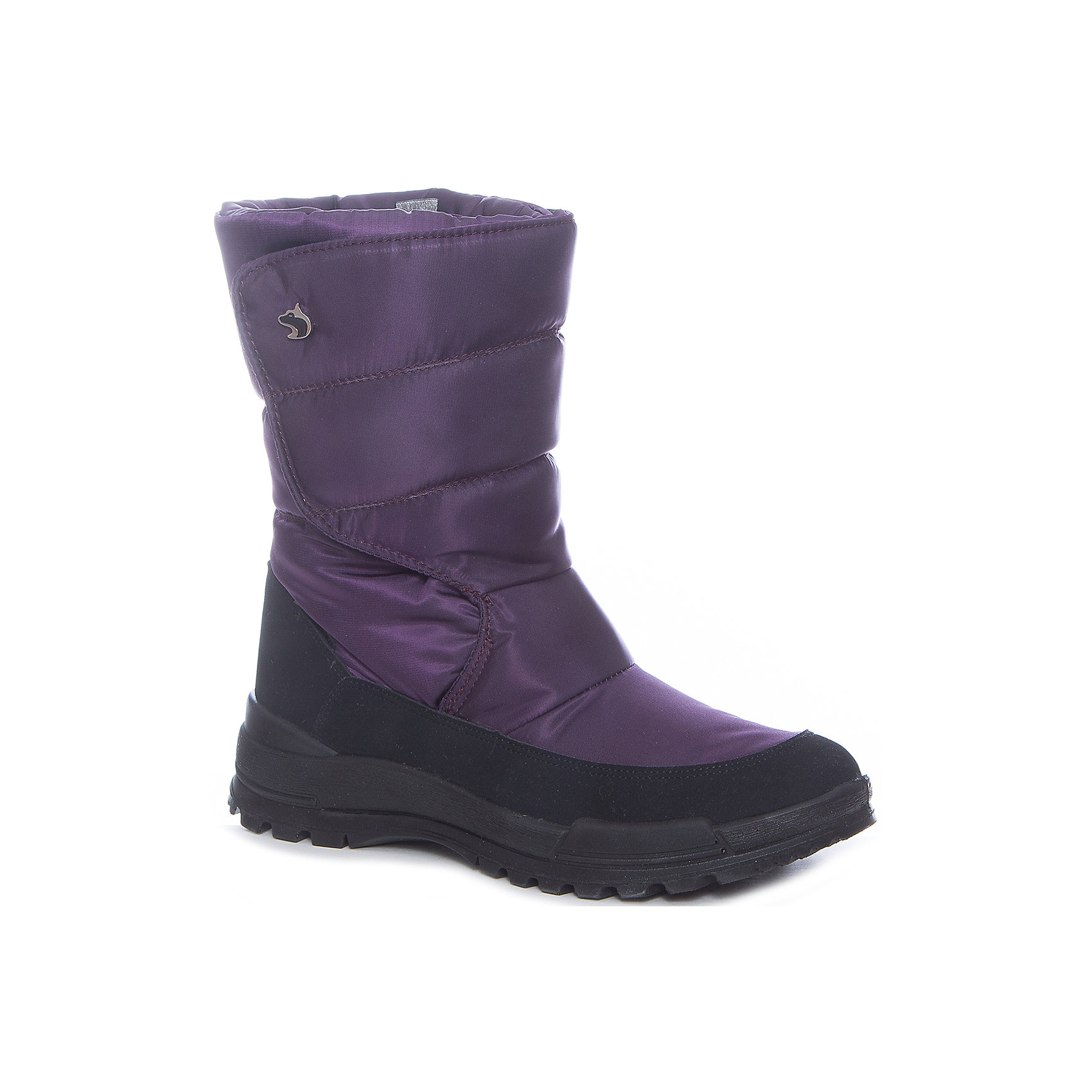 Сапоги Alaska Originale для девочкиДутики<br>Характеристики товара:<br><br>• цвет: фиолетовый<br>• внешний материал: текстиль<br>• внутренний материал: натуральная шерсть/искусственный мех<br>• стелька: натуральная шерсть/искусственный мех<br>• подошва: полимер<br>• сезон: зима<br>• мембранные<br>• водонепроницаемая пропитка верха<br>• температурный режим: от -30 до 0<br>• защита мыса<br>• подошва не скользит<br>• застежка: липучка<br>• анатомические <br>• страна бренда: Испания<br>• страна изготовитель: Румыния <br><br>Обращаем ваша внимание, что во всех сапогах Alaska Originale до 27 размера включительно внутренний материал – натуральная шерсть, начиная с 28 размера – искусственный мех.<br><br>Сапоги Alaska Originale для девочки благодаря мембранной технологии помогут сохранить ноги в тепле, не позволяя им промокнуть. Зимние детские сапоги дополнены легкой нескользящей подошвой и удобной застежкой.<br><br>В каждой модели обуви Alaska Originale продуманы все нюансы для обеспечения высокой степени комфорта. Обувь от итальянской компании Аляска Ориджинал - это высокотехнологичное производство и европейский дизайнеры. <br><br>Сапоги Alaska Originale для девочки (Аляска Ориджинал) можно купить в нашем интернет-магазине.<br><br>Ширина мм: 257<br>Глубина мм: 180<br>Высота мм: 130<br>Вес г: 420<br>Цвет: лиловый<br>Возраст от месяцев: 144<br>Возраст до месяцев: 156<br>Пол: Женский<br>Возраст: Детский<br>Размер: 36,42,37,38,39,40,41<br>SKU: 6984686