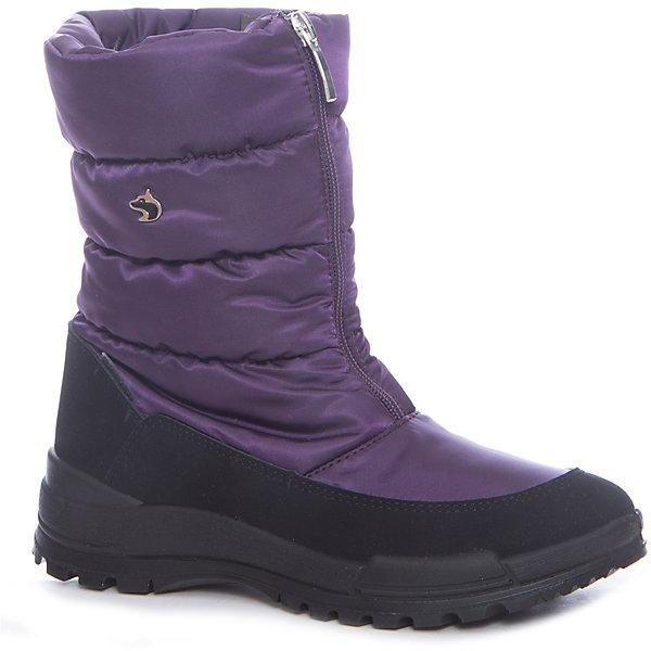 Сапоги Alaska Originale для девочкиДутики<br>Характеристики товара:<br><br>• цвет: фиолетовый<br>• внешний материал: текстиль<br>• внутренний материал: натуральная шерсть/искусственный мех<br>• стелька: натуральная шерсть/искусственный мех<br>• подошва: полимер<br>• сезон: зима<br>• мембранные<br>• водонепроницаемая пропитка верха<br>• температурный режим: от -30 до 0<br>• защита мыса<br>• подошва не скользит<br>• застежка: молния<br>• анатомические <br>• страна бренда: Испания<br>• страна изготовитель: Румыния <br><br>Обращаем ваша внимание, что во всех сапогах Alaska Originale до 27 размера включительно внутренний материал – натуральная шерсть, начиная с 28 размера – искусственный мех.<br><br>Детская мембранная обувь позволяет ногам дышать, при этом призвана защитить их от ветра, холода и влаги. Такие сапоги выполнены в красивой оригинальной расцветке.<br><br>Обувь от итальянской компании Alaska Originale - это высокотехнологичное производство и европейский дизайнеры. В каждой модели обуви проработаны все нюансы для обеспечения высокой степени комфорта.<br><br>Сапоги Alaska Originale (Аляска Ориджинал) можно купить в нашем интернет-магазине.<br><br>Ширина мм: 257<br>Глубина мм: 180<br>Высота мм: 130<br>Вес г: 420<br>Цвет: лиловый<br>Возраст от месяцев: 144<br>Возраст до месяцев: 156<br>Пол: Женский<br>Возраст: Детский<br>Размер: 36,37,41<br>SKU: 6984736