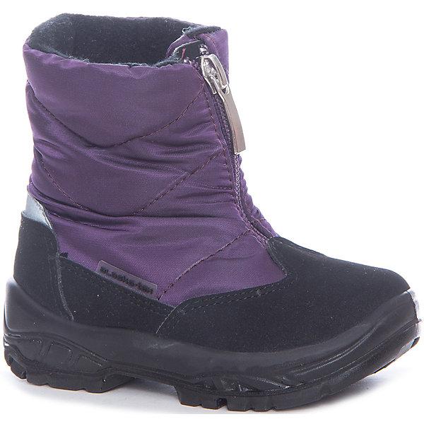 Сапоги Alaska Originale для девочкиДутики<br>Характеристики товара:<br><br>• цвет: фиолетовый<br>• внешний материал: текстиль<br>• внутренний материал: натуральная шерсть/искусственный мех<br>• стелька: натуральная шерсть/искусственный мех<br>• подошва: полимер<br>• сезон: зима<br>• мембранные<br>• водонепроницаемая пропитка верха<br>• температурный режим: от -30 до 0<br>• защита мыса<br>• подошва не скользит<br>• застежка: молния<br>• анатомические <br>• страна бренда: Испания<br>• страна изготовитель: Румыния <br><br>Обращаем ваша внимание, что во всех сапогах Alaska Originale до 27 размера включительно внутренний материал – натуральная шерсть, начиная с 28 размера – искусственный мех.<br><br>Детская мембранная обувь позволяет ногам дышать, при этом призвана защитить их от ветра, холода и влаги. Такие сапоги для девочки имеют не только стильный проработанный дизайн, но и отлично подходят для погодных условий русской зимы.<br><br>Товары итальянской компании Alaska Originale - это высокотехнологичное производство и европейский дизайнеры. В каждой модели обуви проработаны все нюансы для обеспечения высокой степени комфорта.<br><br>Сапоги Alaska Originale для девочки (Аляска Ориджинал) можно купить в нашем интернет-магазине.<br>Ширина мм: 257; Глубина мм: 180; Высота мм: 130; Вес г: 420; Цвет: лиловый; Возраст от месяцев: 15; Возраст до месяцев: 18; Пол: Женский; Возраст: Детский; Размер: 22,27,26,25,24,23; SKU: 6984934;