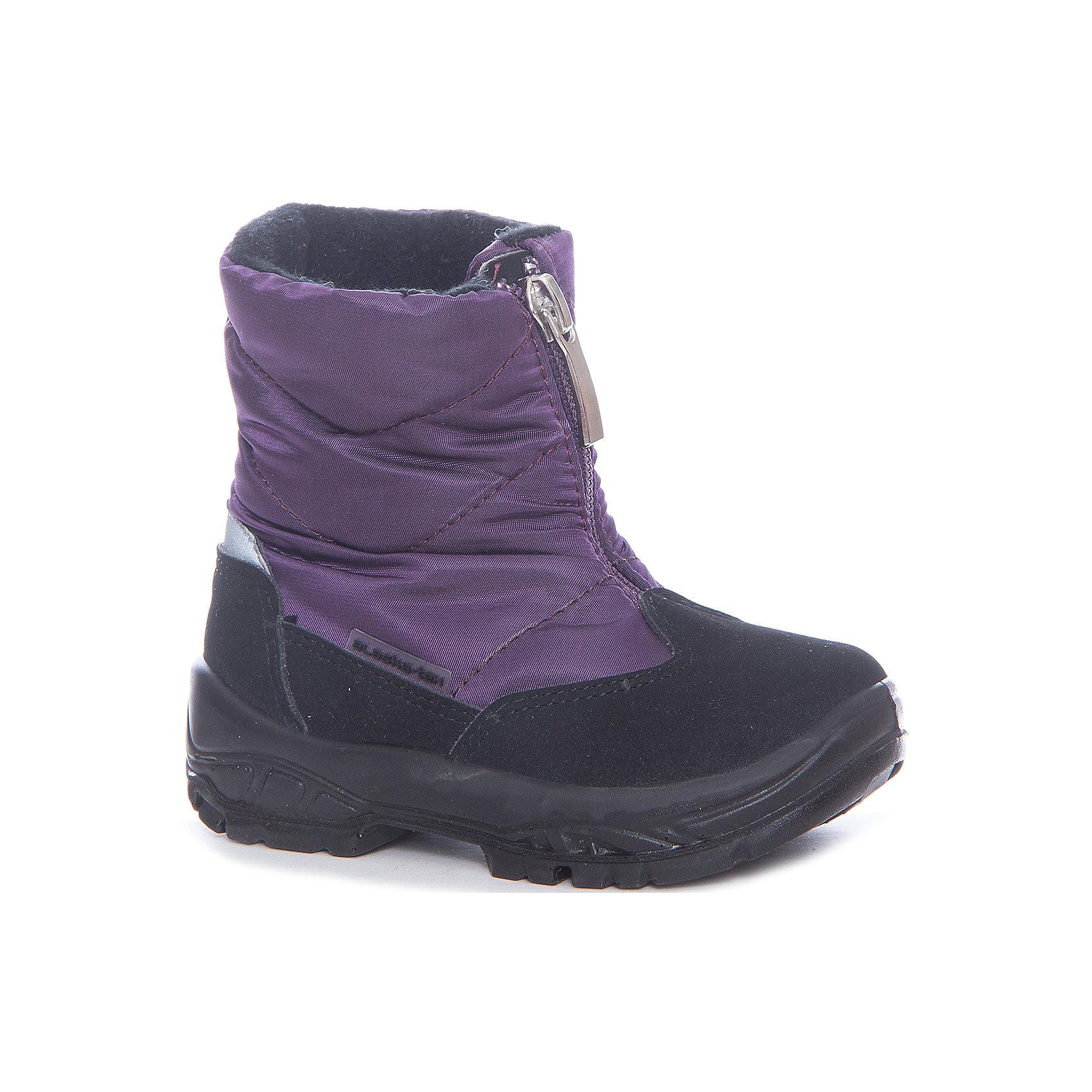 Сапоги Alaska Originale для девочкиСапоги<br>Характеристики товара:<br><br>• цвет: фиолетовый<br>• внешний материал: текстиль<br>• внутренний материал: натуральная шерсть/искусственный мех<br>• стелька: натуральная шерсть/искусственный мех<br>• подошва: полимер<br>• сезон: зима<br>• мембранные<br>• водонепроницаемая пропитка верха<br>• температурный режим: от -30 до 0<br>• защита мыса<br>• подошва не скользит<br>• застежка: молния<br>• анатомические <br>• страна бренда: Испания<br>• страна изготовитель: Румыния <br><br>Обращаем ваша внимание, что во всех сапогах Alaska Originale до 27 размера включительно внутренний материал – натуральная шерсть, начиная с 28 размера – искусственный мех.<br><br>Детская мембранная обувь позволяет ногам дышать, при этом призвана защитить их от ветра, холода и влаги. Такие сапоги для девочки имеют не только стильный проработанный дизайн, но и отлично подходят для погодных условий русской зимы.<br><br>Товары итальянской компании Alaska Originale - это высокотехнологичное производство и европейский дизайнеры. В каждой модели обуви проработаны все нюансы для обеспечения высокой степени комфорта.<br><br>Сапоги Alaska Originale для девочки (Аляска Ориджинал) можно купить в нашем интернет-магазине.<br><br>Ширина мм: 257<br>Глубина мм: 180<br>Высота мм: 130<br>Вес г: 420<br>Цвет: лиловый<br>Возраст от месяцев: 15<br>Возраст до месяцев: 18<br>Пол: Женский<br>Возраст: Детский<br>Размер: 22,27,26,25,24,23<br>SKU: 6984934
