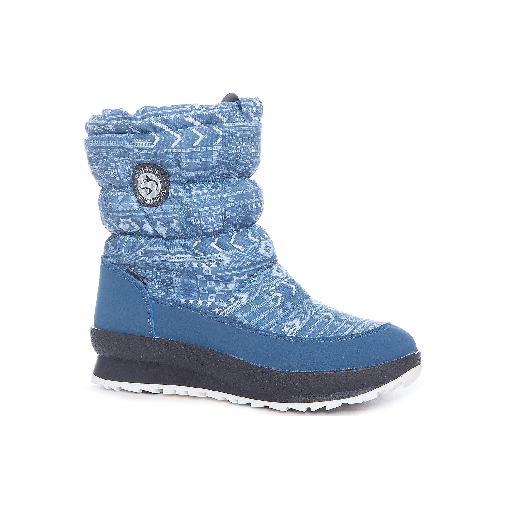 Сапоги Alaska OriginaleДутики<br>Характеристики товара:<br><br>• цвет: синий<br>• внешний материал: текстиль<br>• внутренний материал: натуральная шерсть/искусственный мех<br>• стелька: натуральная шерсть/искусственный мех<br>• подошва: полимер<br>• сезон: зима<br>• мембранные<br>• водонепроницаемая пропитка верха<br>• температурный режим: от -30 до 0<br>• защита мыса<br>• подошва не скользит<br>• застежка: утяжка<br>• анатомические <br>• страна бренда: Испания<br>• страна изготовитель: Румыния <br><br>Обращаем ваша внимание, что во всех сапогах Alaska Originale до 27 размера включительно внутренний материал – натуральная шерсть, начиная с 28 размера – искусственный мех.<br><br>Синие зимние сапоги с принтом дополнены легкой нескользящей подошвой и удобной застежкой. Сапоги Alaska Originale благодаря мембранной технологии помогут сохранить ноги в тепле, не позволяя им промокнуть.<br><br>Обувь от итальянской компании Alaska Originale - это высокотехнологичное производство и европейский дизайнеры. В каждой модели обуви проработаны все нюансы для обеспечения высокой степени комфорта.<br><br>Сапоги Alaska Originale (Аляска Ориджинал) можно купить в нашем интернет-магазине.<br><br>Ширина мм: 257<br>Глубина мм: 180<br>Высота мм: 130<br>Вес г: 420<br>Цвет: синий<br>Возраст от месяцев: 156<br>Возраст до месяцев: 168<br>Пол: Унисекс<br>Возраст: Детский<br>Размер: 37,39,36,38<br>SKU: 6984974