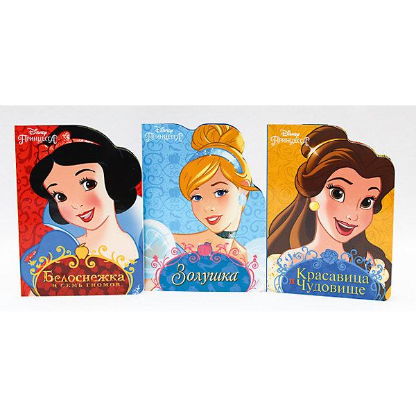 Комплект книг Disney  Белоснежка, Золушка, Красавица и ЧудовищеСказки<br>Любимые герои Disney снова с нами!Кто на свете всех милее? Конечно,прекрасная Белоснежка. Удастся ли бедной принцессе спастись от гнева злой Королевы? Читайте об этом на страницах новой серии книг с вырубкой!<br>Ширина мм: 160; Глубина мм: 220; Высота мм: 18; Вес г: 387; Возраст от месяцев: 0; Возраст до месяцев: 36; Пол: Женский; Возраст: Детский; SKU: 6990111;