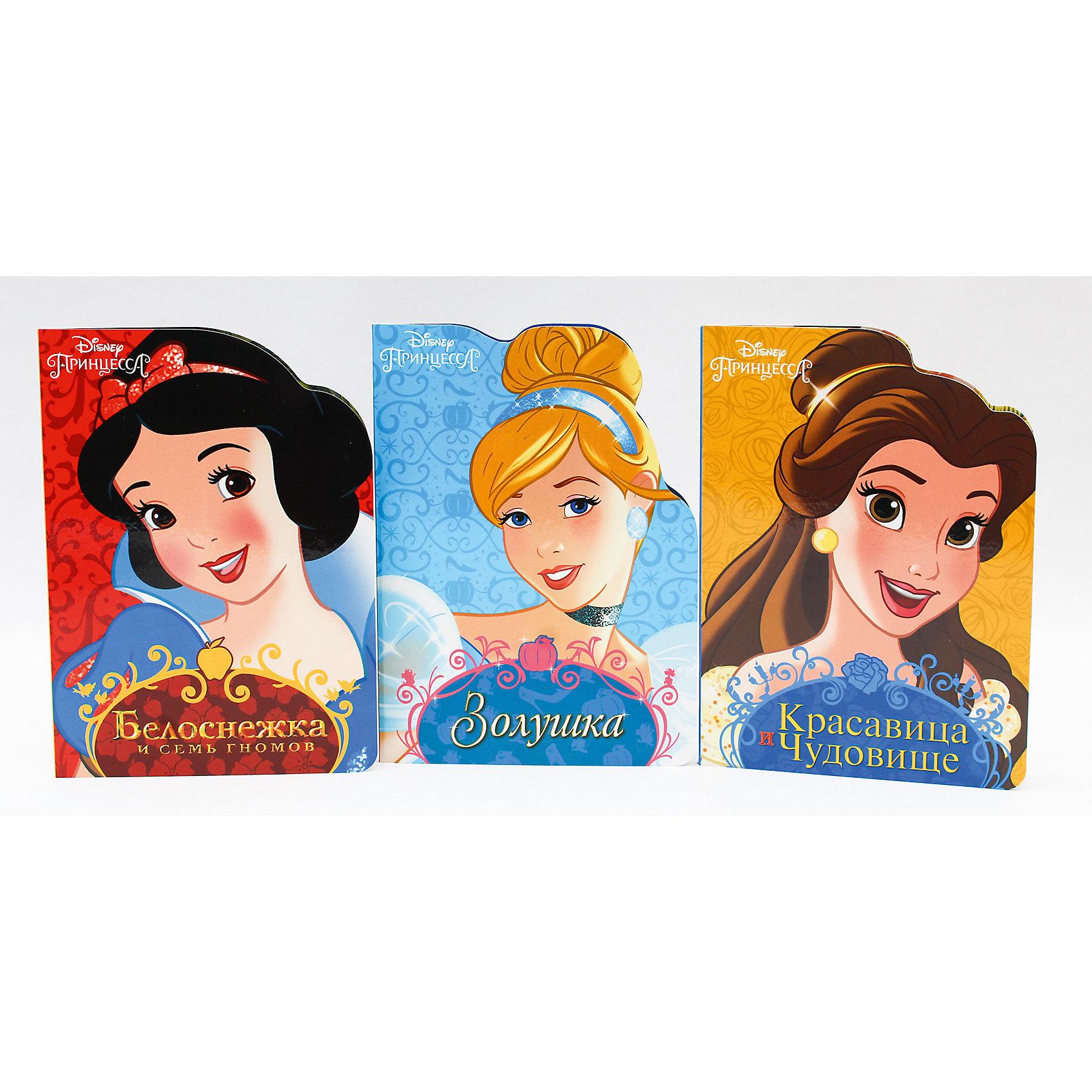 Комплект книг Disney  Белоснежка, Золушка, Красавица и ЧудовищеСказки<br>Любимые герои Disney снова с нами!Кто на свете всех милее? Конечно,прекрасная Белоснежка. Удастся ли бедной принцессе спастись от гнева злой Королевы? Читайте об этом на страницах новой серии книг с вырубкой!<br><br>Ширина мм: 160<br>Глубина мм: 220<br>Высота мм: 18<br>Вес г: 387<br>Возраст от месяцев: 0<br>Возраст до месяцев: 36<br>Пол: Женский<br>Возраст: Детский<br>SKU: 6990111