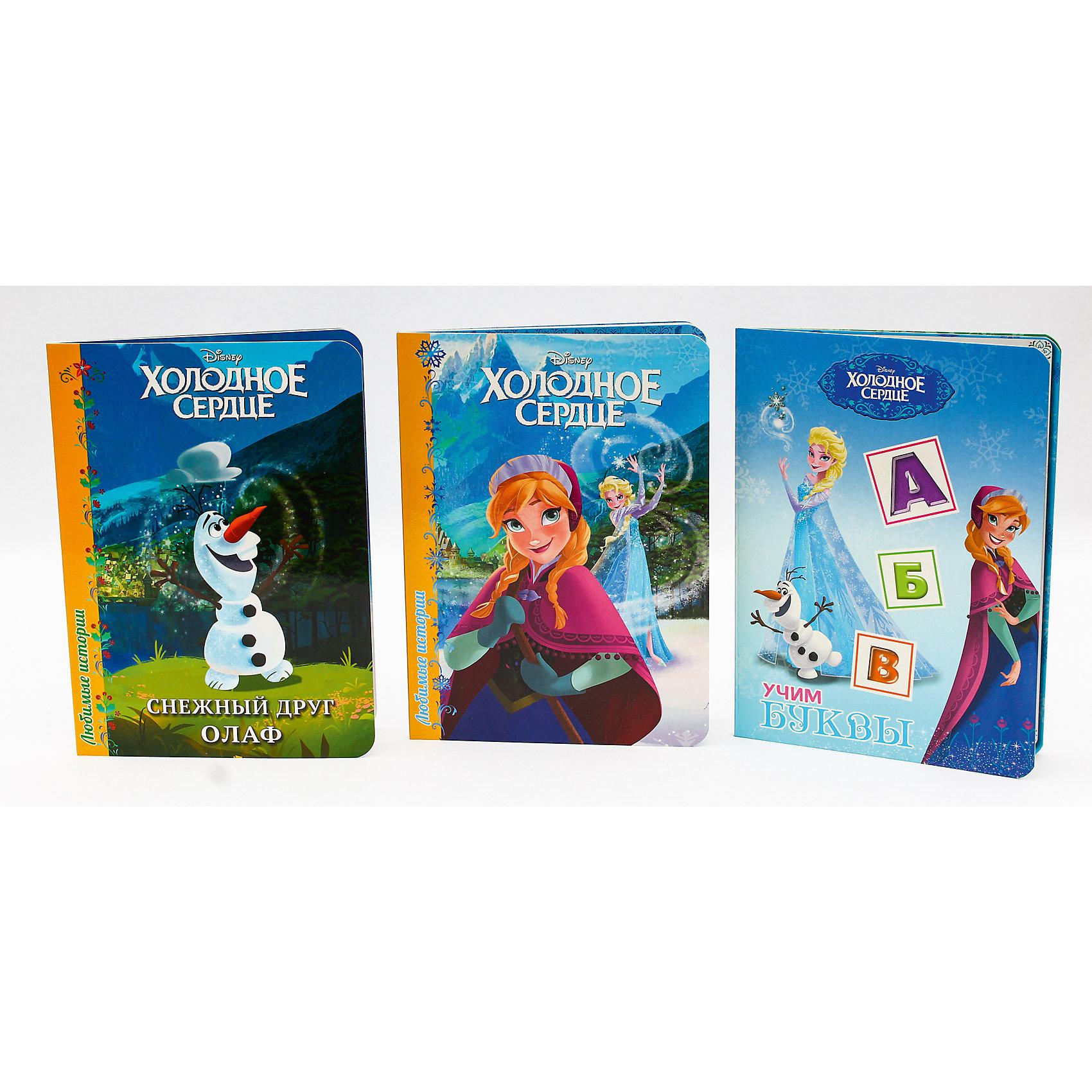 Комплект книг Disney  Снежный друг Олаф, Холодное сердце,  Учим буквыСказки<br>Маленький друг,волшебство-вокруг тебя,стоит только приглядеться!И книги Disney тебе в этом помогут. Они унесут тебя в восхитительный мир,где сказка оживает. Скорее отправляйся в незабываемое путешествие вместе с добрым снеговиком Олафом,который так любит тёплые объятия!<br><br>Ширина мм: 160<br>Глубина мм: 220<br>Высота мм: 18<br>Вес г: 431<br>Возраст от месяцев: 0<br>Возраст до месяцев: 36<br>Пол: Женский<br>Возраст: Детский<br>SKU: 6990113
