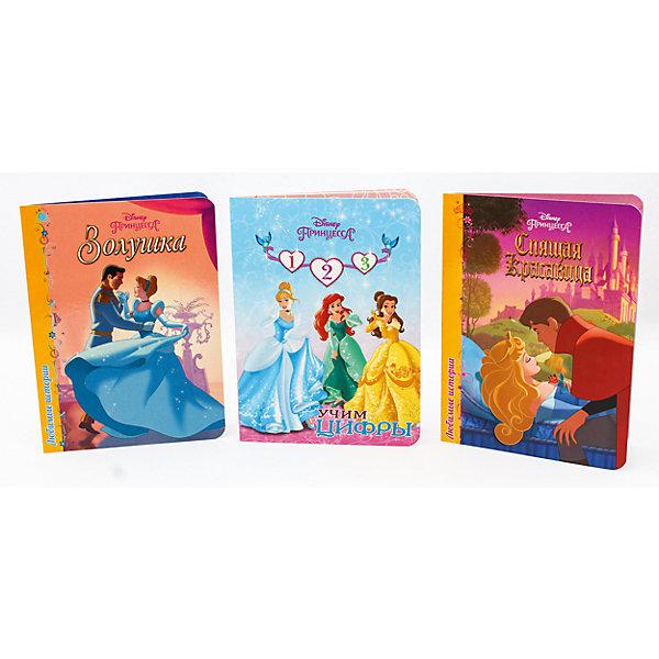 Комплект книг Disney  Золушка, Спящая красавица, Учим цифрыСказки<br>Каждая девочка мечтает стать принцессой С книгами Disney твоя мечта осуществится. Ведь они откроют тебе мир, где чудеса случаются каждый день! Скорее открывай страницы и читай увлекательную историю Спящей Красавицы.<br><br>Ширина мм: 160<br>Глубина мм: 220<br>Высота мм: 18<br>Вес г: 431<br>Возраст от месяцев: 0<br>Возраст до месяцев: 36<br>Пол: Женский<br>Возраст: Детский<br>SKU: 6990116