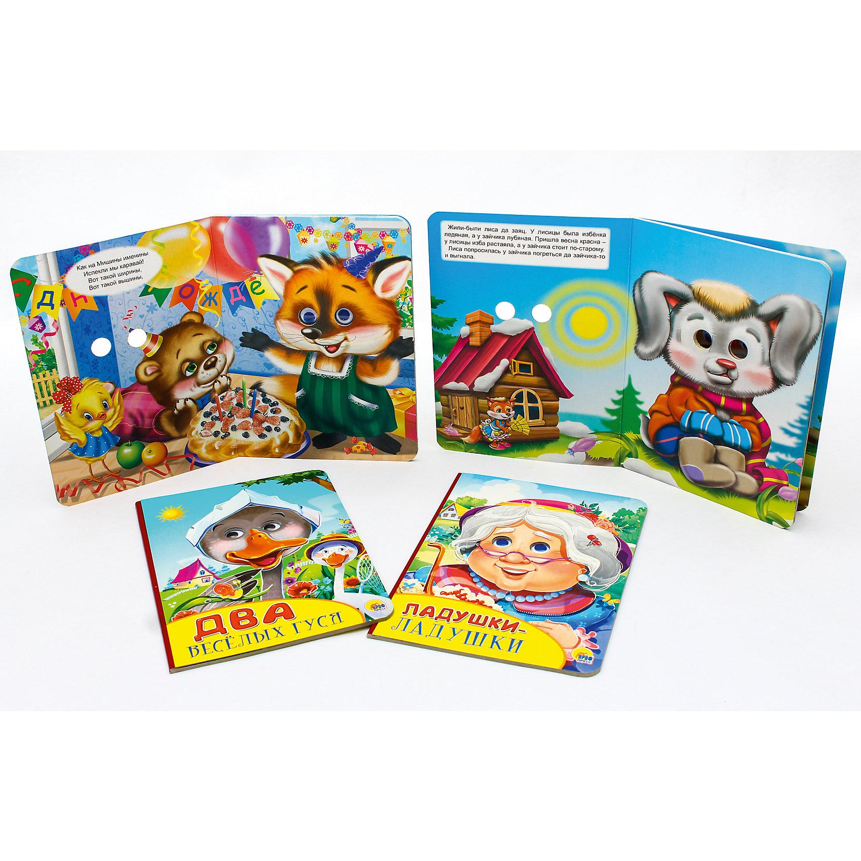 Сказки для малышей Ладушки-ладушки, Два весёлых гуся, Заюшкина избушка, Каравай-каравайОбучающие карточки<br>Обучающие карточки серии «Уроки для самых маленьких» помогут ребёнку узнать много интересного об окружающем мире, его богатстве и многообразии. Каждый набор включает 16 карточек и посвящён определённой тематике. Благодаря данному набору ребёнок в познавательной и в то же время игровой форме узнает, как безопасно вести себя дома и на улице, как правильно поступать в той или иной ситуации, а также познакомится с телефонными номерами экстренных служб. Работа с карточками станет для малыша не только увлекательным занятием, но и начальным этапом подготовки к дальнейшему обучению в школе.<br><br>Ширина мм: 160<br>Глубина мм: 220<br>Высота мм: 24<br>Вес г: 448<br>Возраст от месяцев: 12<br>Возраст до месяцев: 36<br>Пол: Унисекс<br>Возраст: Детский<br>SKU: 6990135