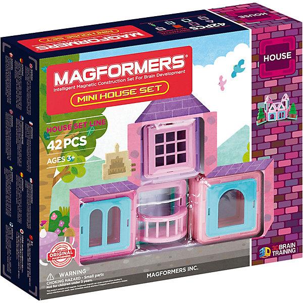 Купить Магнитный конструктор Mini House Set 42, MAGFORMERS, Китай, Унисекс