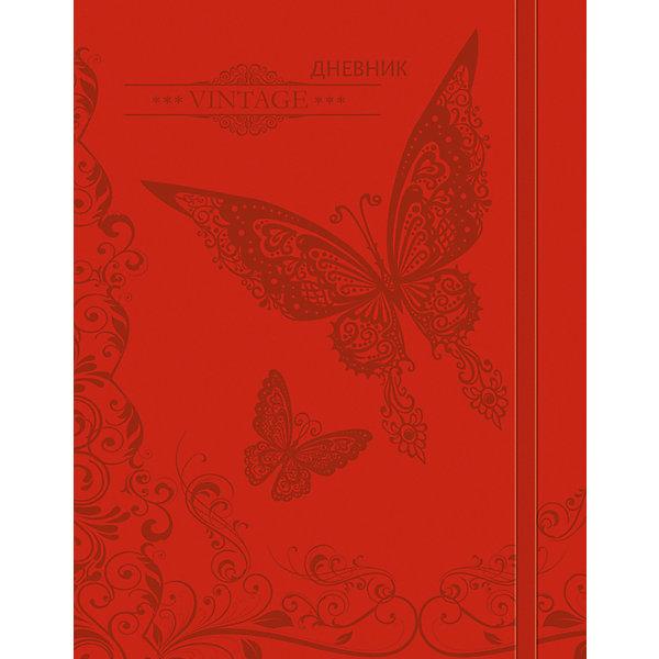 Дневник. Универсальный блок.Бумажная продукция<br>Характеристики товара:<br><br>• возраст: от 6 лет;<br>• цвет: красный;<br>• формат: А5;<br>• количество листов: 48;<br>• разметка: в линейку;<br>• бумага: офсетная;<br>• переплет: интегральный;<br>• обложка: исскуственная кожа, картон;<br>• размер: 21,5х17х0,5 см.;<br>• вес: 210 гр.;<br>• страна бренда: Россия;<br>• страна изготовитель: Россия.<br><br>Дневник имеет сшитый внутренний блок, состоящий из 48 листов белой бумаги с линовкой синего цветаи тиснением из фольги. Снабжен резинкой, что поможет быстро открыть нужную страницу. Прочная и приятная на ощупь обложка выполнена из высококачественной искусственной кожи с рисунком Бабочка.<br><br>Первая страница дневника представляет собой анкету для личных данных владельца, также на ней указаны телефоны экстренной помощи. На следующих страницах находятся список преподавателей, список преподавателей,  расписание кружков, секций и факультативов, заметки классного руководителя и учителей. На последних страницах дневника имеются сведения о заданиях на каникулы, список литературы для чтения, сведения об успеваемости и поведении ребенка за учебный год, список одноклассников и справочный материал по различным предметам.<br><br>Дневник - это первый ежедневник вашего ребенка. Он поможет ему не забыть свои задания, а вы всегда сможете проконтролировать его успеваемость.<br><br>Дневник, универсальный блок, 48 листов, можно купить в нашем интернет-магазине.<br><br>Ширина мм: 215<br>Глубина мм: 170<br>Высота мм: 5<br>Вес г: 210<br>Возраст от месяцев: 36<br>Возраст до месяцев: 216<br>Пол: Унисекс<br>Возраст: Детский<br>SKU: 6992535