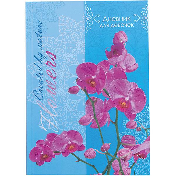 Дневник для девочек в твердом переплете формата А5, декорированном глиттером Орхидея. 80 листовБумажная продукция<br>Характеристики товара:<br><br>• возраст: от 6 лет;<br>• цвет: голубой,розовый;<br>• формат: А5;<br>• количество листов: 80;<br>• разметка: в линейку;<br>• бумага: офсетная;<br>• переплет: твердый;<br>• обложка: картон;<br>• размер: 21,5х17х0,5 см.;<br>• вес: 225 гр.;<br>• страна бренда: Россия;<br>• страна изготовитель: Россия.<br><br>Дневник для девочек в твердом переплете формата А5, декорированном глиттером «Орхидея» поможет  записать яркие воспоминания или события из жизни, о которых не хотелось бы забывать, и ему можно доверить самые сокровенные мысли и желания.  <br><br>Имеет сшитый внутренний блок, состоящий из 80 листов тонированной бумаги плотностью 70г/кв.м. Прочная и приятная на ощупь обложка выполнена с использованием итальянских переплетных материалов, а оригинальный дизайн с блестками и рисунком придется по душе вашему ребенку и станет приятным подарком.<br><br>В дневнике на разноцветных страницах представлены гороскопы и описание характерных черт, присущих различным знакам зодиака, и различные тематические странички.<br><br>Дневник для девочек в твердом переплете формата А5, декорированном глиттером «Орхидея», 80 листов, можно купить в нашем интернет-магазине.<br><br>Ширина мм: 206<br>Глубина мм: 146<br>Высота мм: 11<br>Вес г: 225<br>Возраст от месяцев: 36<br>Возраст до месяцев: 216<br>Пол: Женский<br>Возраст: Детский<br>SKU: 6992554