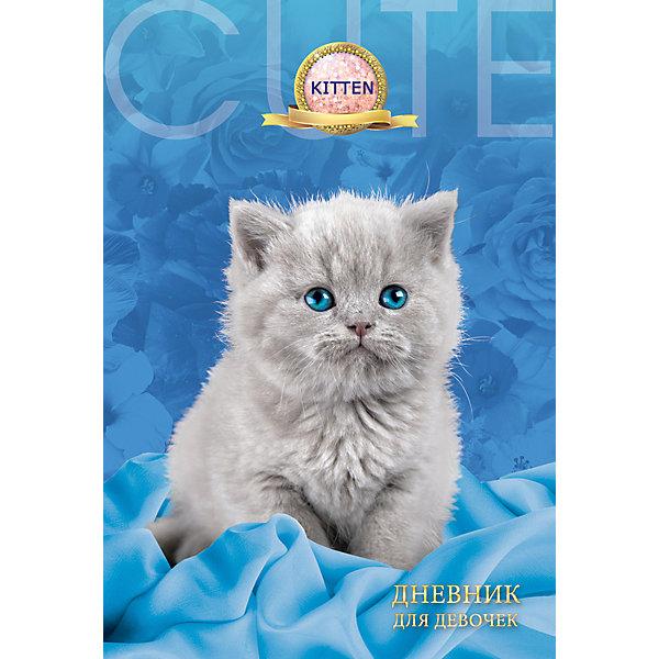 Дневник для девочек в твердом переплете формата А5, декорированном глиттером Серый котёнок. 80 листовБумажная продукция<br>Характеристики товара:<br><br>• возраст: от 6 лет;<br>• цвет: голубой,серый;<br>• формат: А5;<br>• количество листов: 80;<br>• разметка: в линейку;<br>• бумага: офсетная;<br>• переплет: твердый;<br>• обложка: картон;<br>• размер: 21,5х17х0,5 см.;<br>• вес: 200 гр.;<br>• страна бренда: Россия;<br>• страна изготовитель: Россия.<br><br>Дневник для девочек в твердом переплете формата А5, декорированном глиттером «Серый котенок» поможет  записать яркие воспоминания или события из жизни, о которых не хотелось бы забывать, и ему можно доверить самые сокровенные мысли и желания.  <br><br>Имеет сшитый внутренний блок, состоящий из 80 листов тонированной бумаги плотностью 70г/кв.м. Прочная и приятная на ощупь обложка выполнена с использованием итальянских переплетных материалов, а оригинальный дизайн с блестками и рисунком придется по душе вашему ребенку и станет приятным подарком.<br><br>В дневнике на разноцветных страницах представлены гороскопы и описание характерных черт, присущих различным знакам зодиака, и различные тематические странички.<br><br>Дневник для девочек в твердом переплете формата А5, декорированном глиттером «Серый котенок», 80 листов, можно купить в нашем интернет-магазине.<br>Ширина мм: 206; Глубина мм: 146; Высота мм: 11; Вес г: 200; Возраст от месяцев: 36; Возраст до месяцев: 216; Пол: Женский; Возраст: Детский; SKU: 6992557;