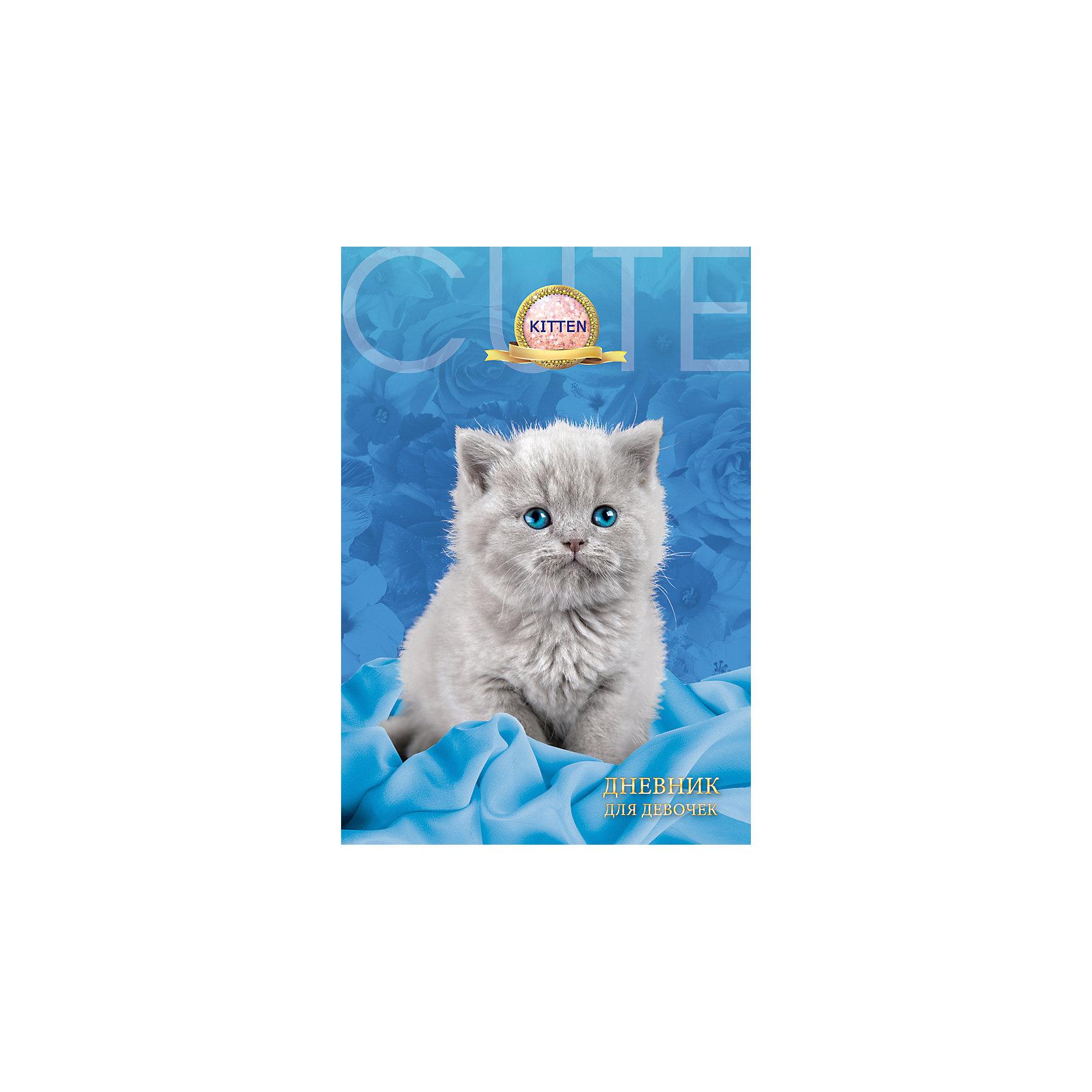Дневник для девочек в твердом переплете формата А5, декорированном глиттером Серый котёнок. 80 листовБумажная продукция<br>Характеристики товара:<br><br>• возраст: от 6 лет;<br>• цвет: голубой,серый;<br>• формат: А5;<br>• количество листов: 80;<br>• разметка: в линейку;<br>• бумага: офсетная;<br>• переплет: твердый;<br>• обложка: картон;<br>• размер: 21,5х17х0,5 см.;<br>• вес: 200 гр.;<br>• страна бренда: Россия;<br>• страна изготовитель: Россия.<br><br>Дневник для девочек в твердом переплете формата А5, декорированном глиттером «Серый котенок» поможет  записать яркие воспоминания или события из жизни, о которых не хотелось бы забывать, и ему можно доверить самые сокровенные мысли и желания.  <br><br>Имеет сшитый внутренний блок, состоящий из 80 листов тонированной бумаги плотностью 70г/кв.м. Прочная и приятная на ощупь обложка выполнена с использованием итальянских переплетных материалов, а оригинальный дизайн с блестками и рисунком придется по душе вашему ребенку и станет приятным подарком.<br><br>В дневнике на разноцветных страницах представлены гороскопы и описание характерных черт, присущих различным знакам зодиака, и различные тематические странички.<br><br>Дневник для девочек в твердом переплете формата А5, декорированном глиттером «Серый котенок», 80 листов, можно купить в нашем интернет-магазине.<br><br>Ширина мм: 206<br>Глубина мм: 146<br>Высота мм: 11<br>Вес г: 200<br>Возраст от месяцев: 36<br>Возраст до месяцев: 216<br>Пол: Женский<br>Возраст: Детский<br>SKU: 6992557